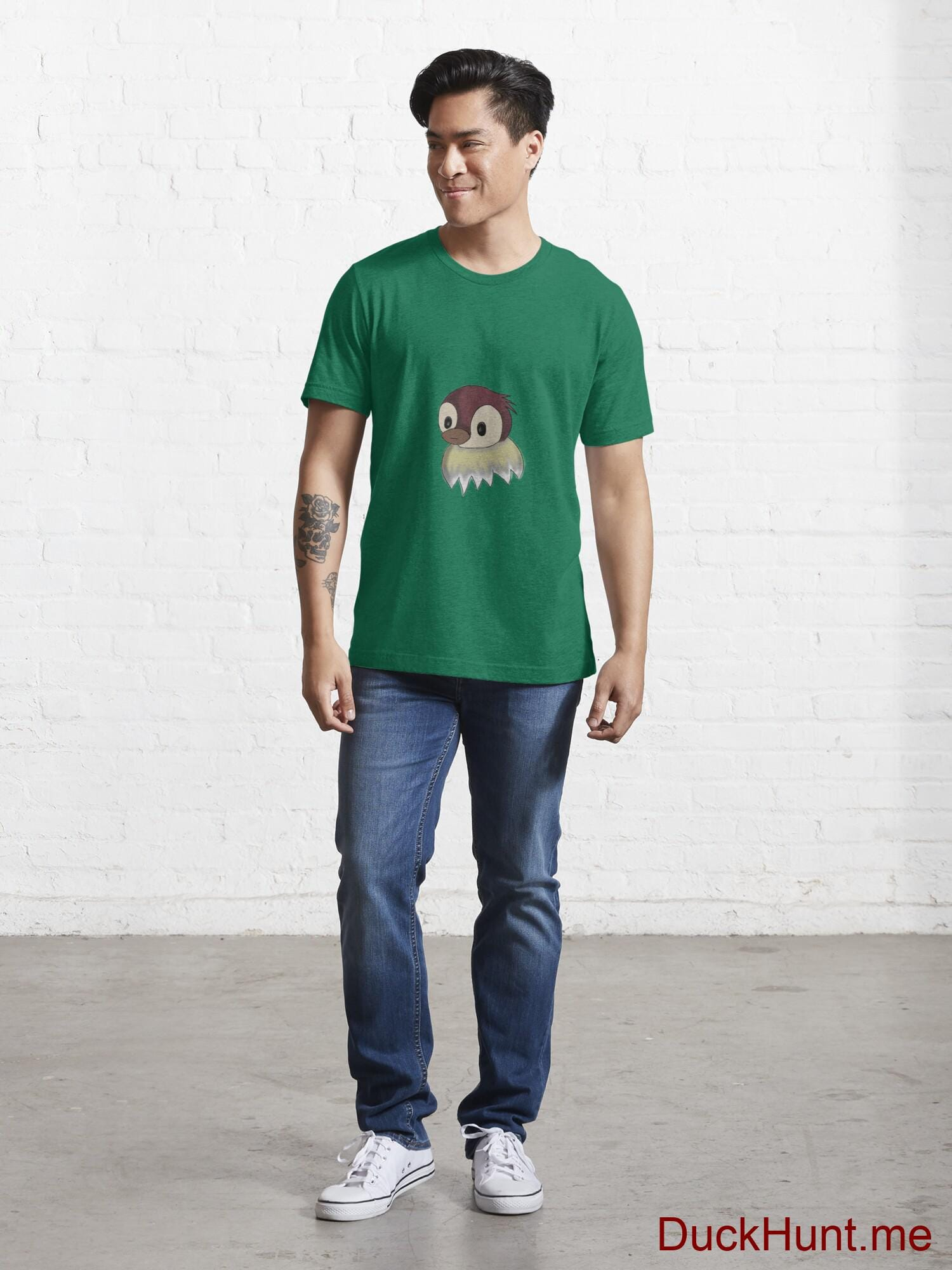 Ghost Duck (fogless) Green Essential T-Shirt (Front printed) alternative image 4