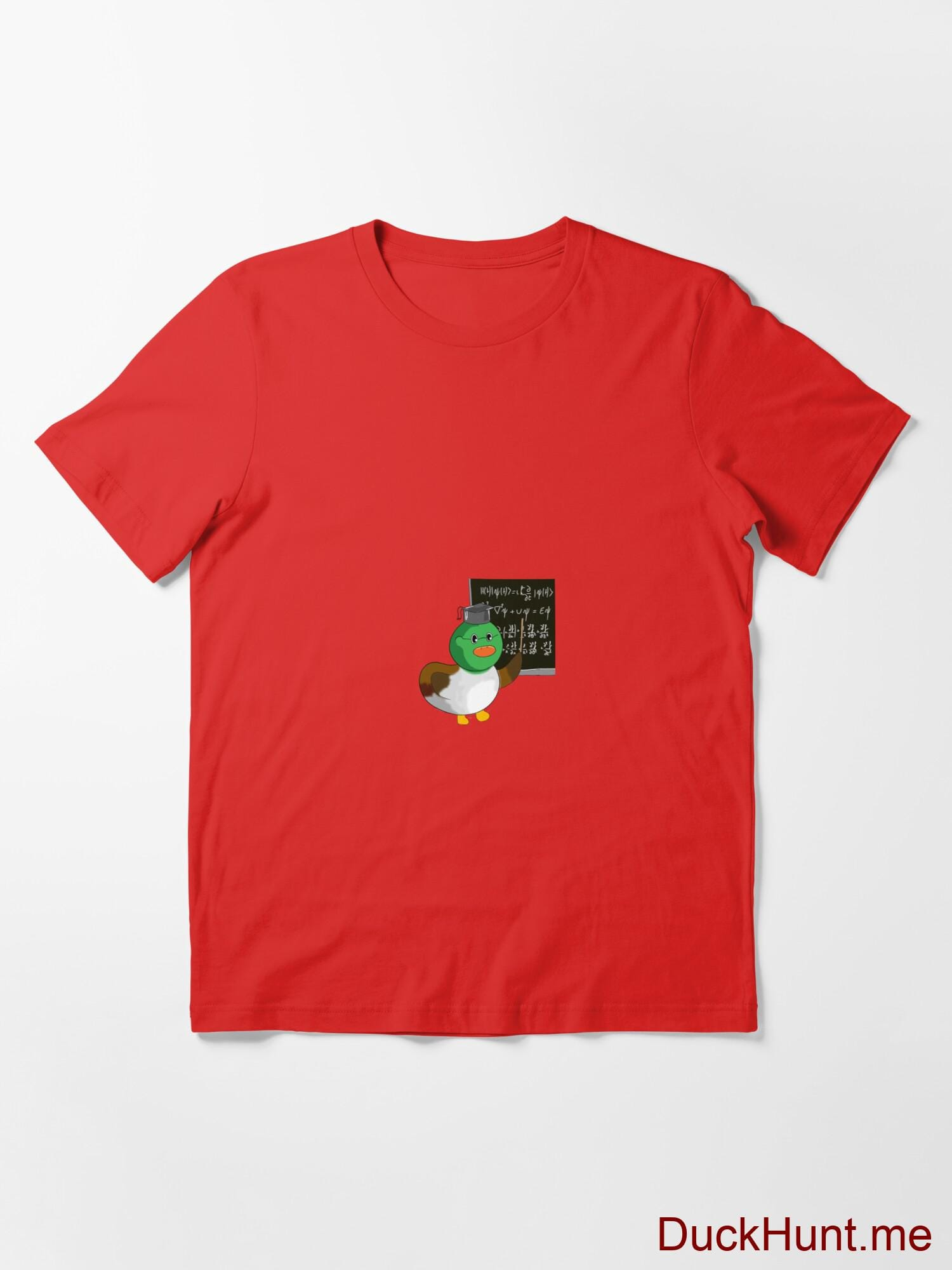 Prof Duck Red Essential T-Shirt (Front printed) alternative image 2