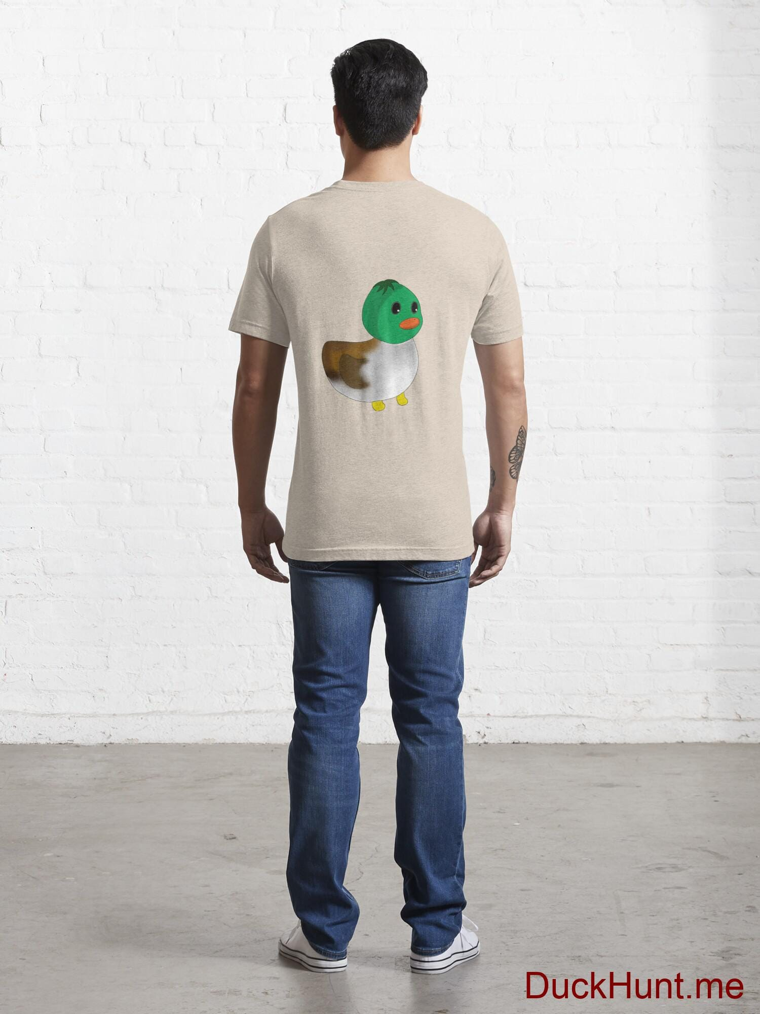 Normal Duck Creme Essential T-Shirt (Back printed) alternative image 3