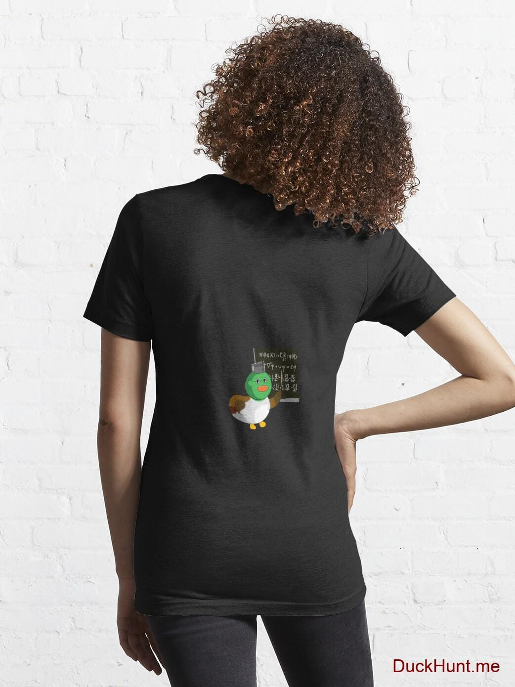 Prof Duck Black Essential T-Shirt (Back printed) alternative image 4