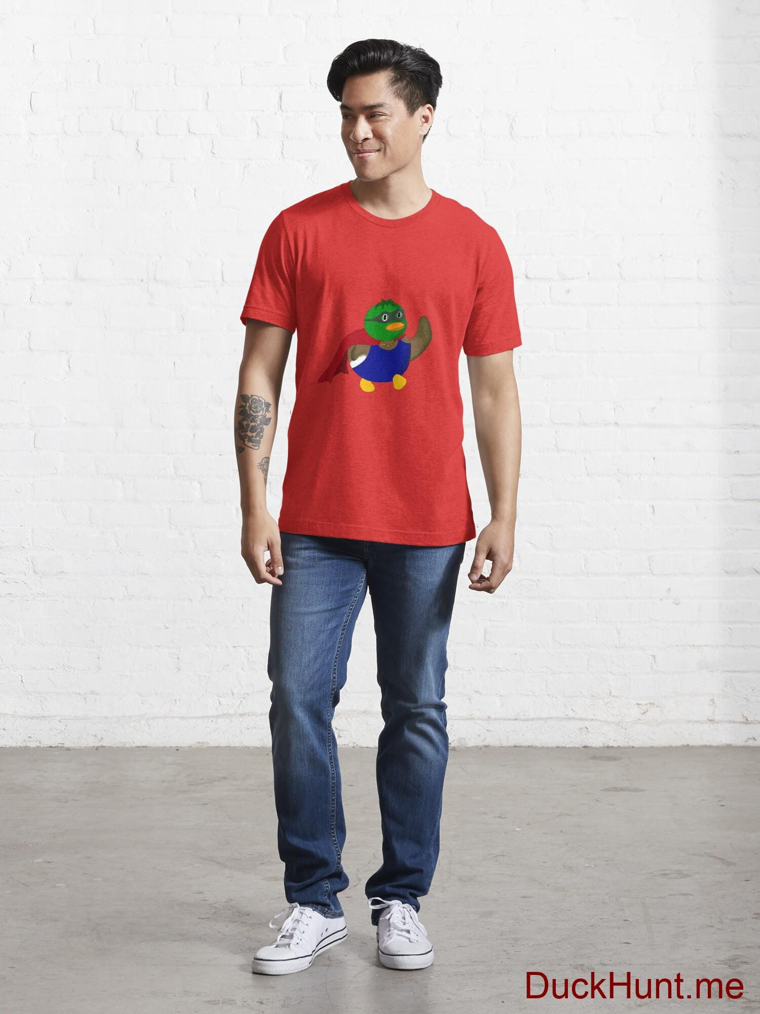 Alive Boss Duck Red Essential T-Shirt (Front printed) alternative image 4