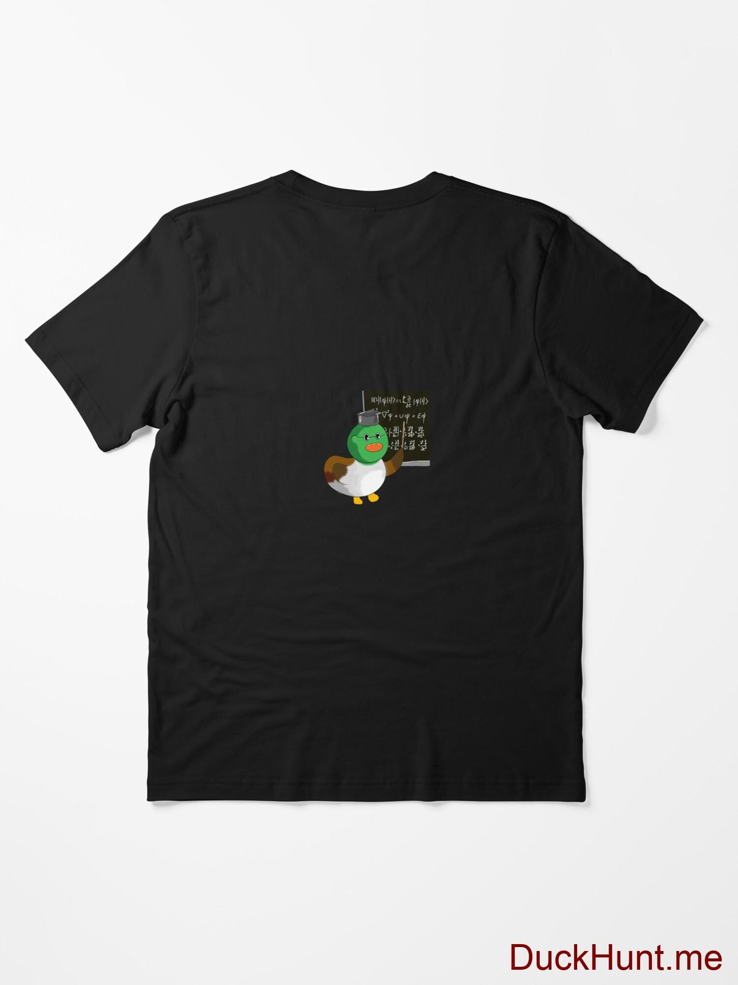 Prof Duck Black Essential T-Shirt (Back printed) alternative image 1