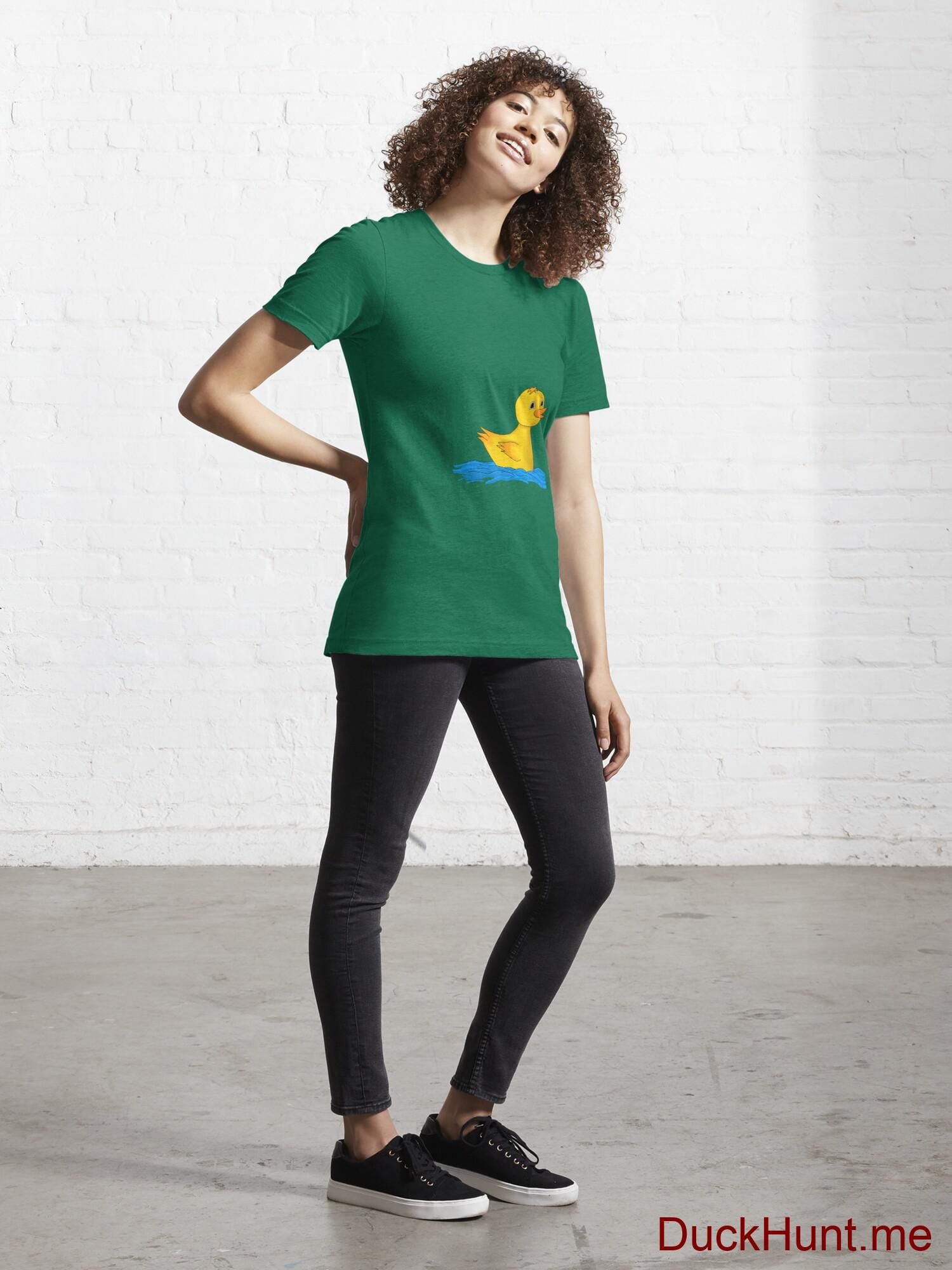Plastic Duck Green Essential T-Shirt (Front printed) alternative image 3
