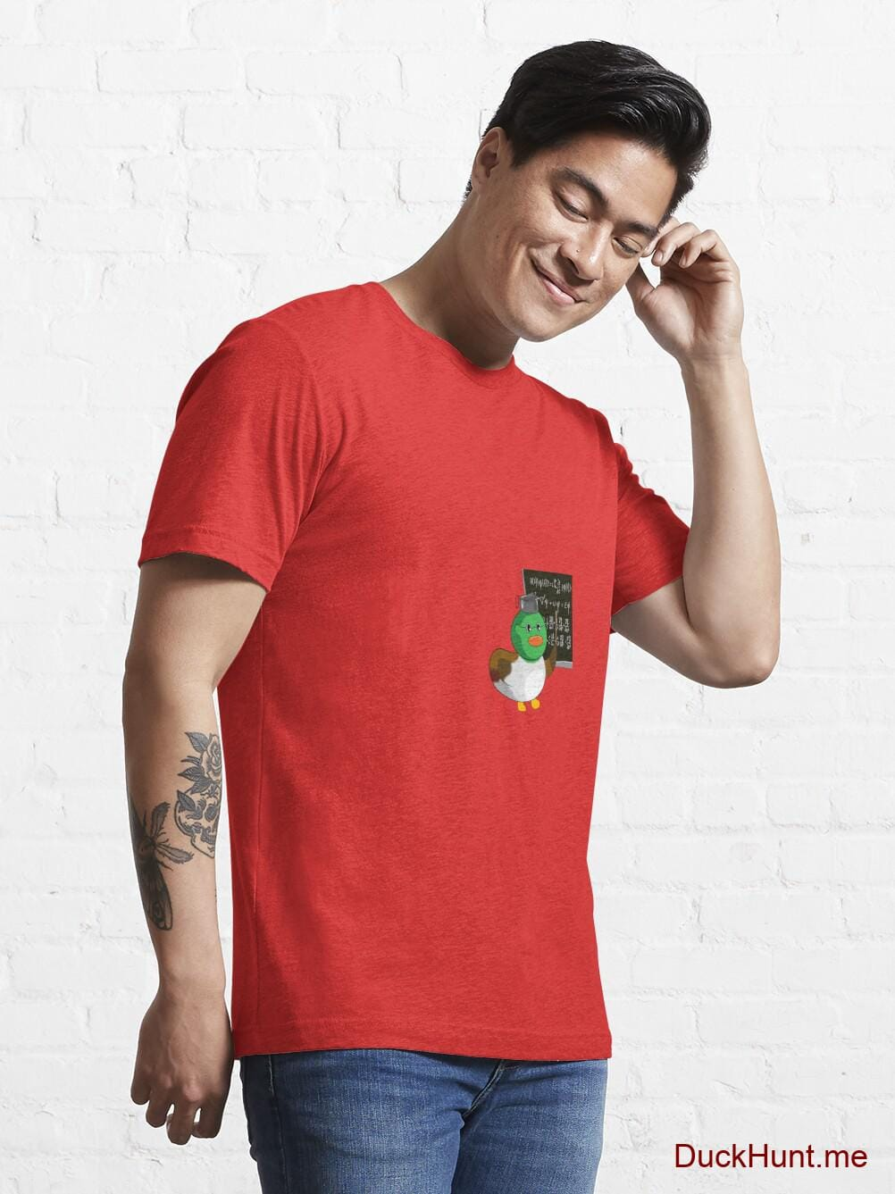 Prof Duck Red Essential T-Shirt (Front printed) alternative image 6