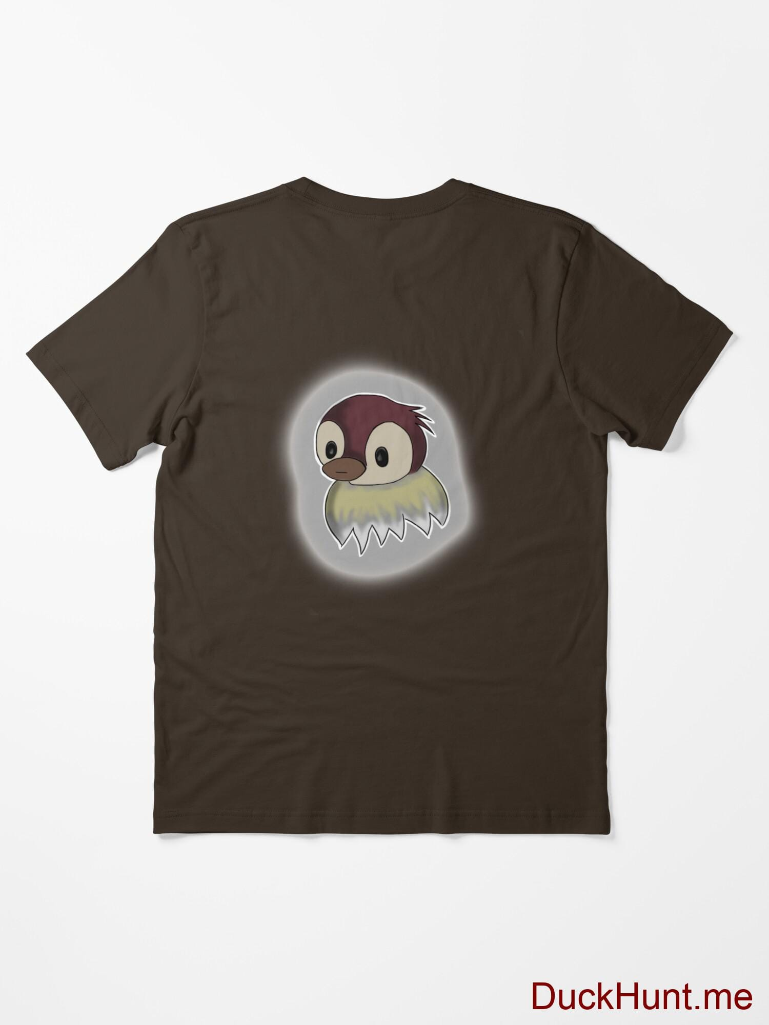 Ghost Duck (foggy) Brown Essential T-Shirt (Back printed) alternative image 1