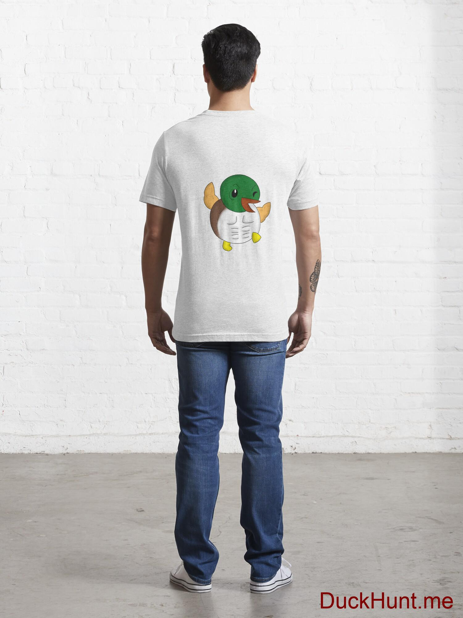 Super duck White Essential T-Shirt (Back printed) alternative image 3