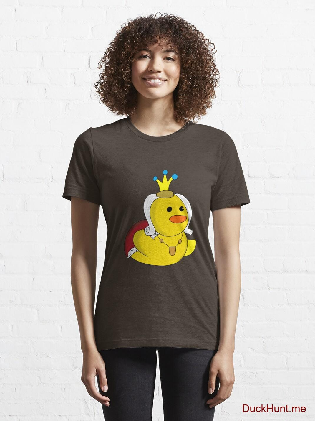 Royal Duck Brown Essential T-Shirt (Front printed) alternative image 5