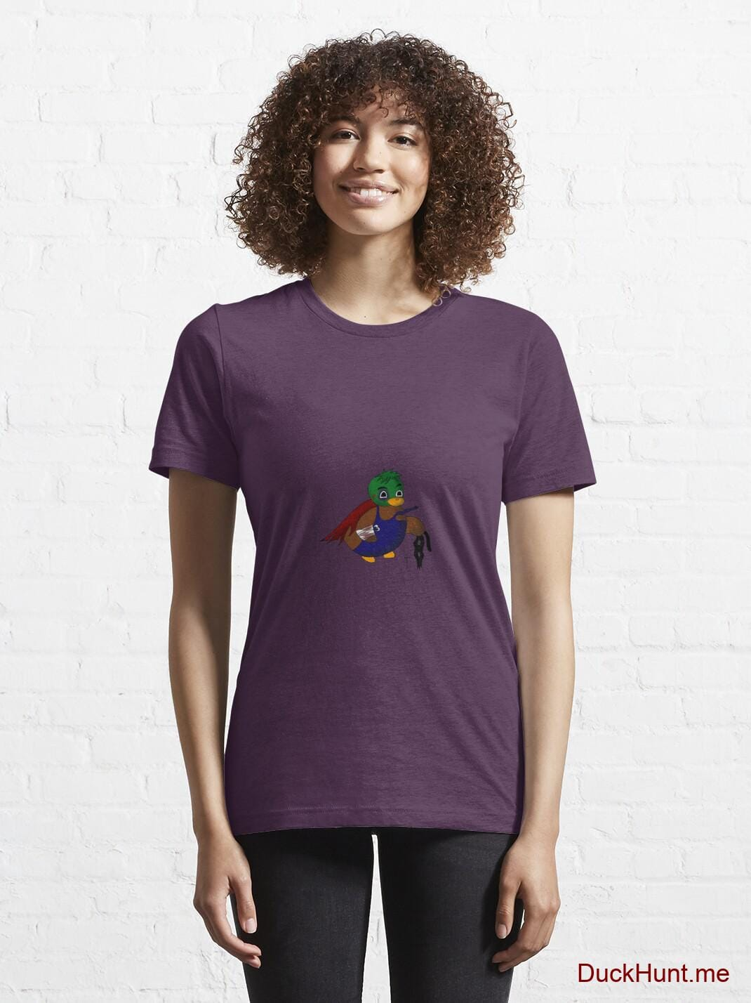 Dead DuckHunt Boss (smokeless) Eggplant Essential T-Shirt (Front printed) alternative image 5