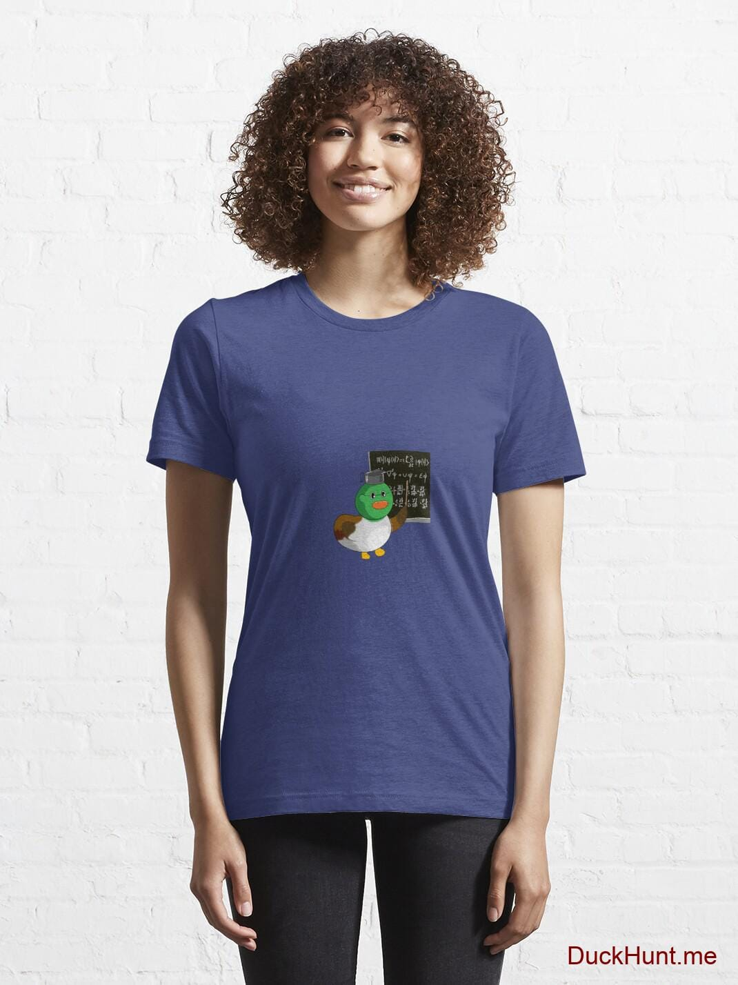 Prof Duck Blue Essential T-Shirt (Front printed) alternative image 5
