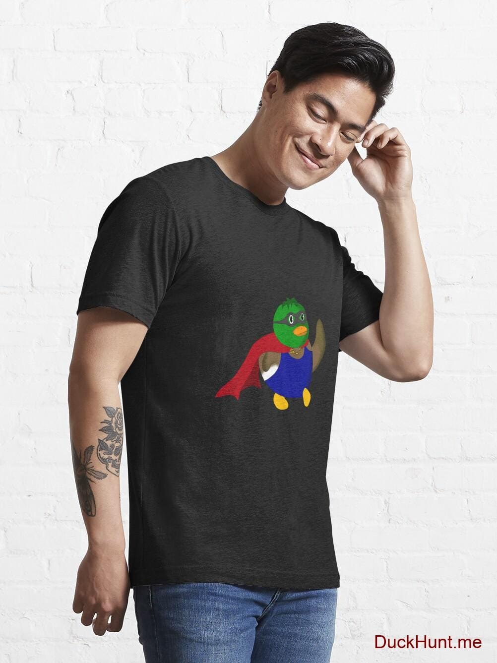 Alive Boss Duck Black Essential T-Shirt (Front printed) alternative image 6