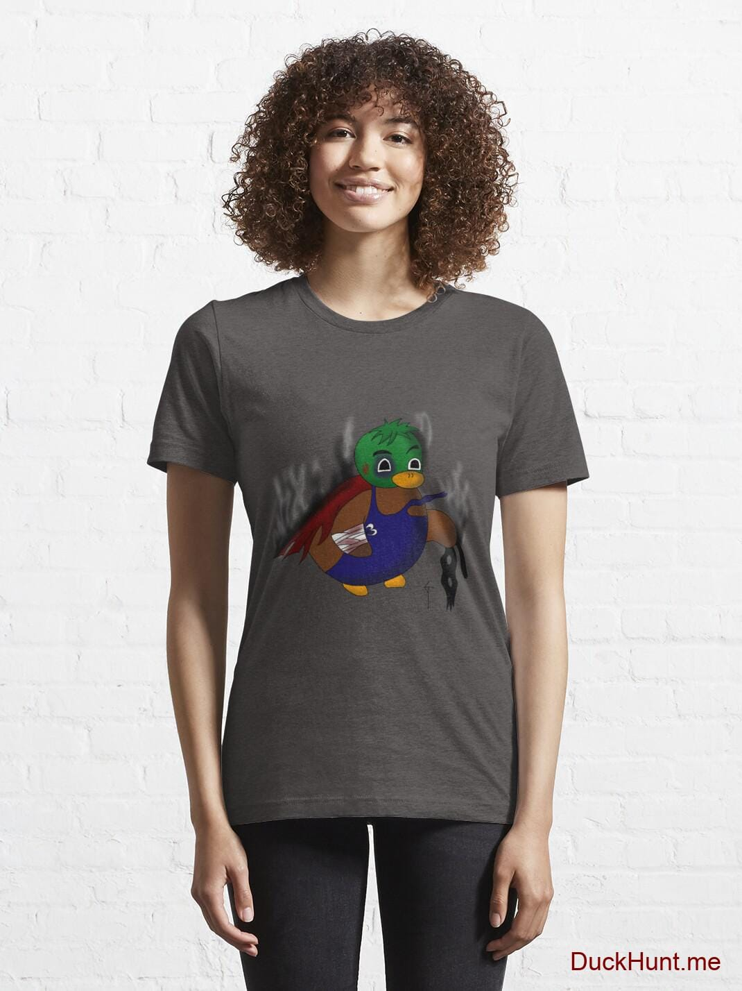 Dead Boss Duck (smoky) Charcoal Heather Essential T-Shirt (Front printed) alternative image 5