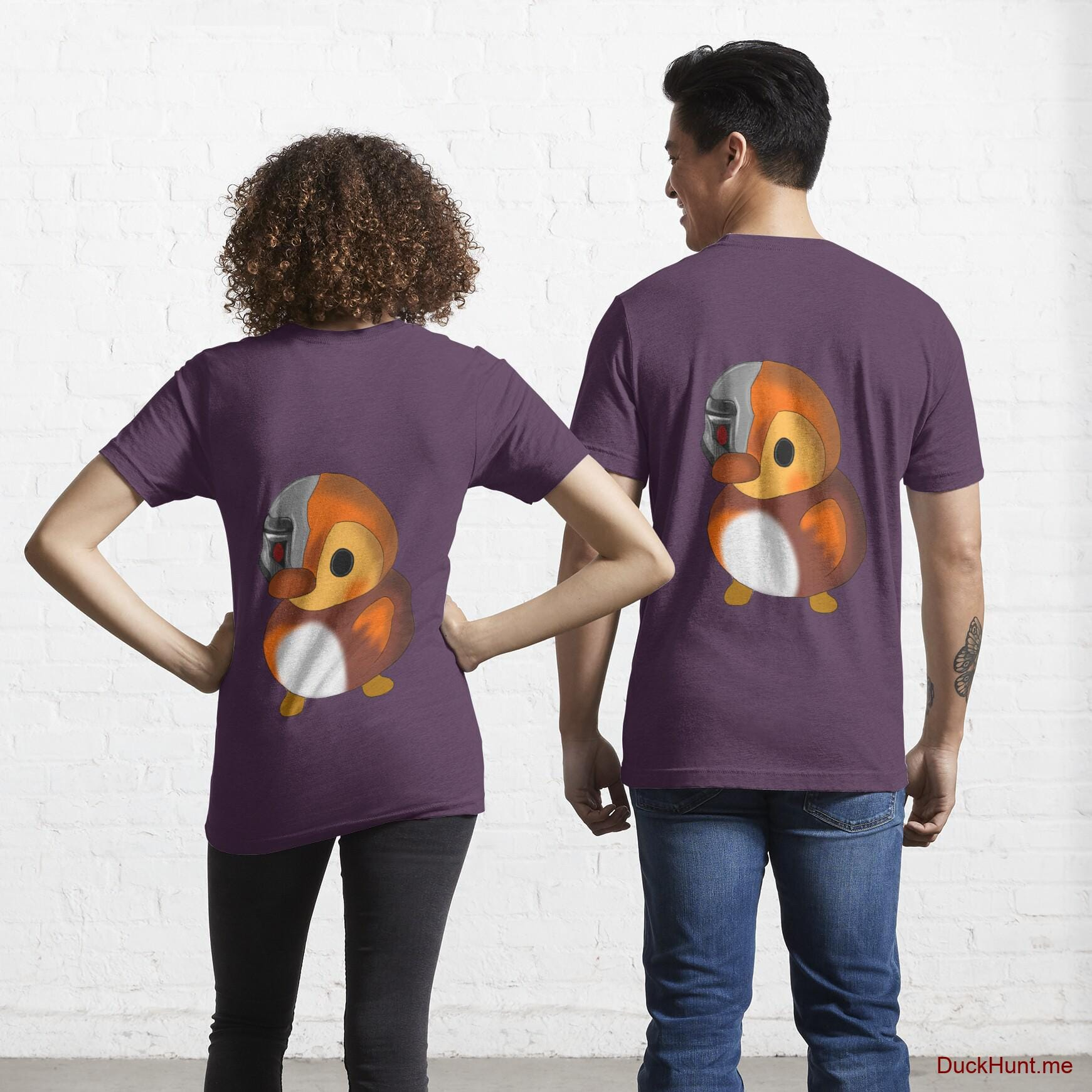 Mechanical Duck Eggplant Essential T-Shirt (Back printed)