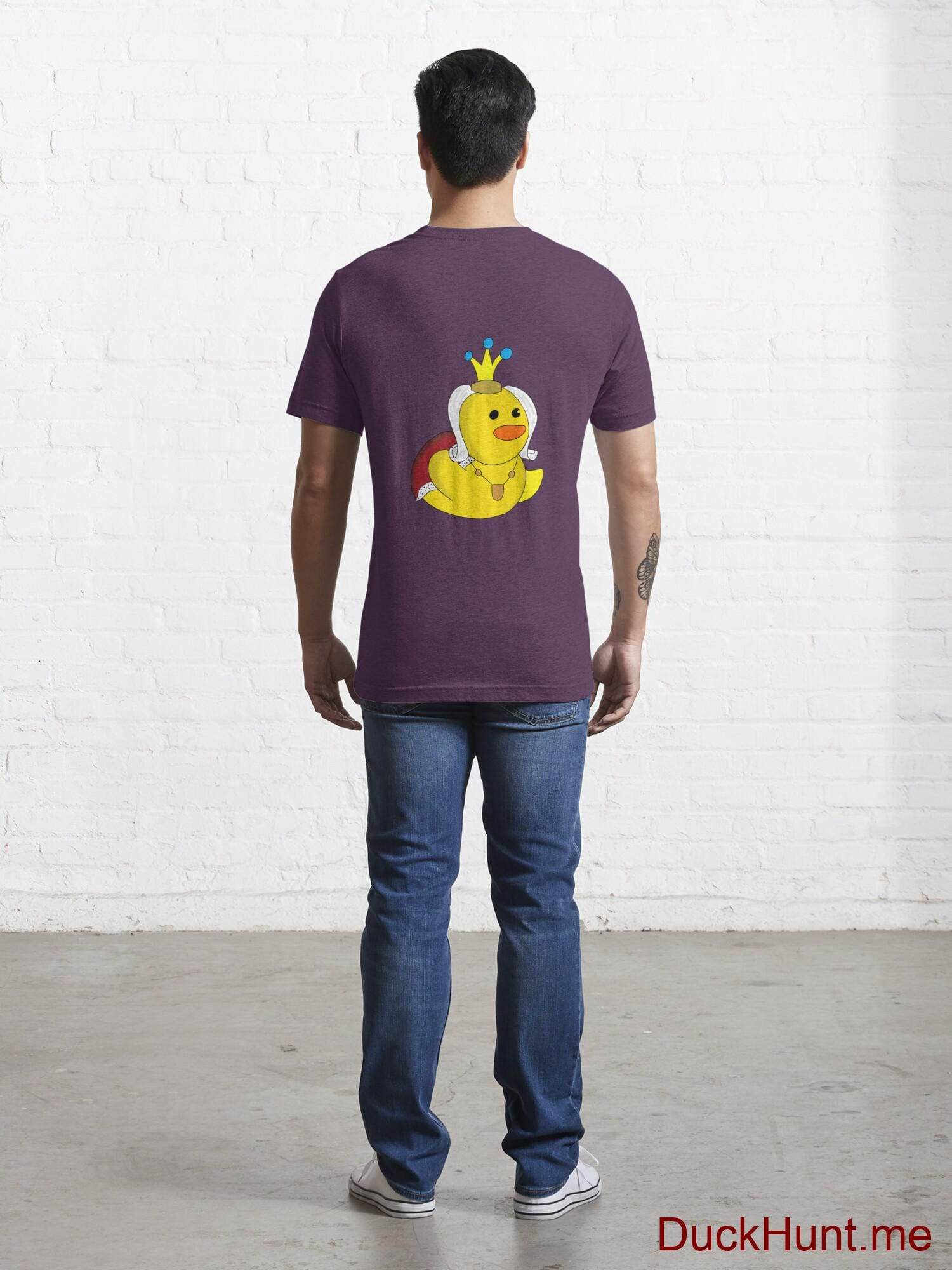 Royal Duck Eggplant Essential T-Shirt (Back printed) alternative image 3