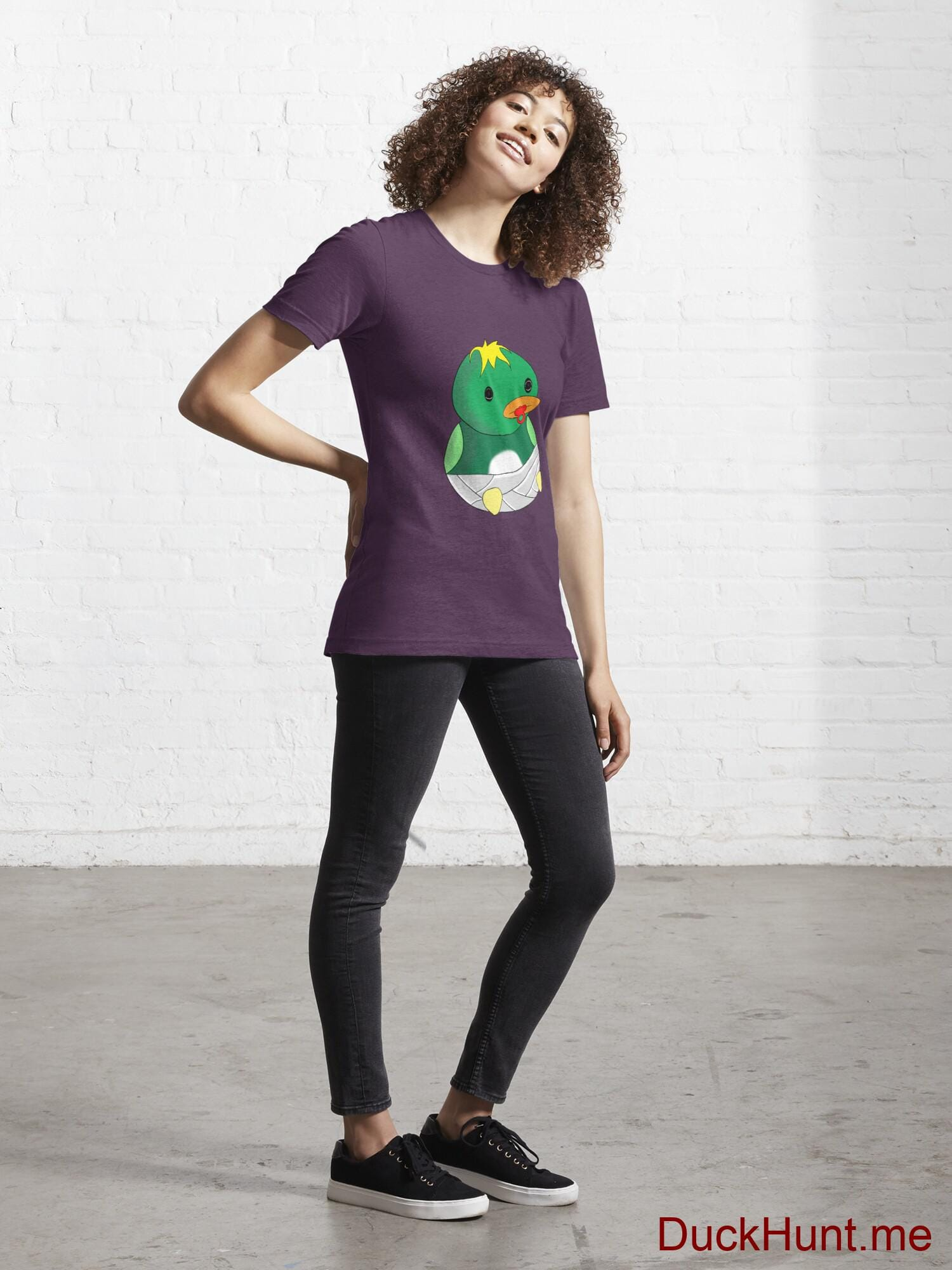 Baby duck Eggplant Essential T-Shirt (Front printed) alternative image 3