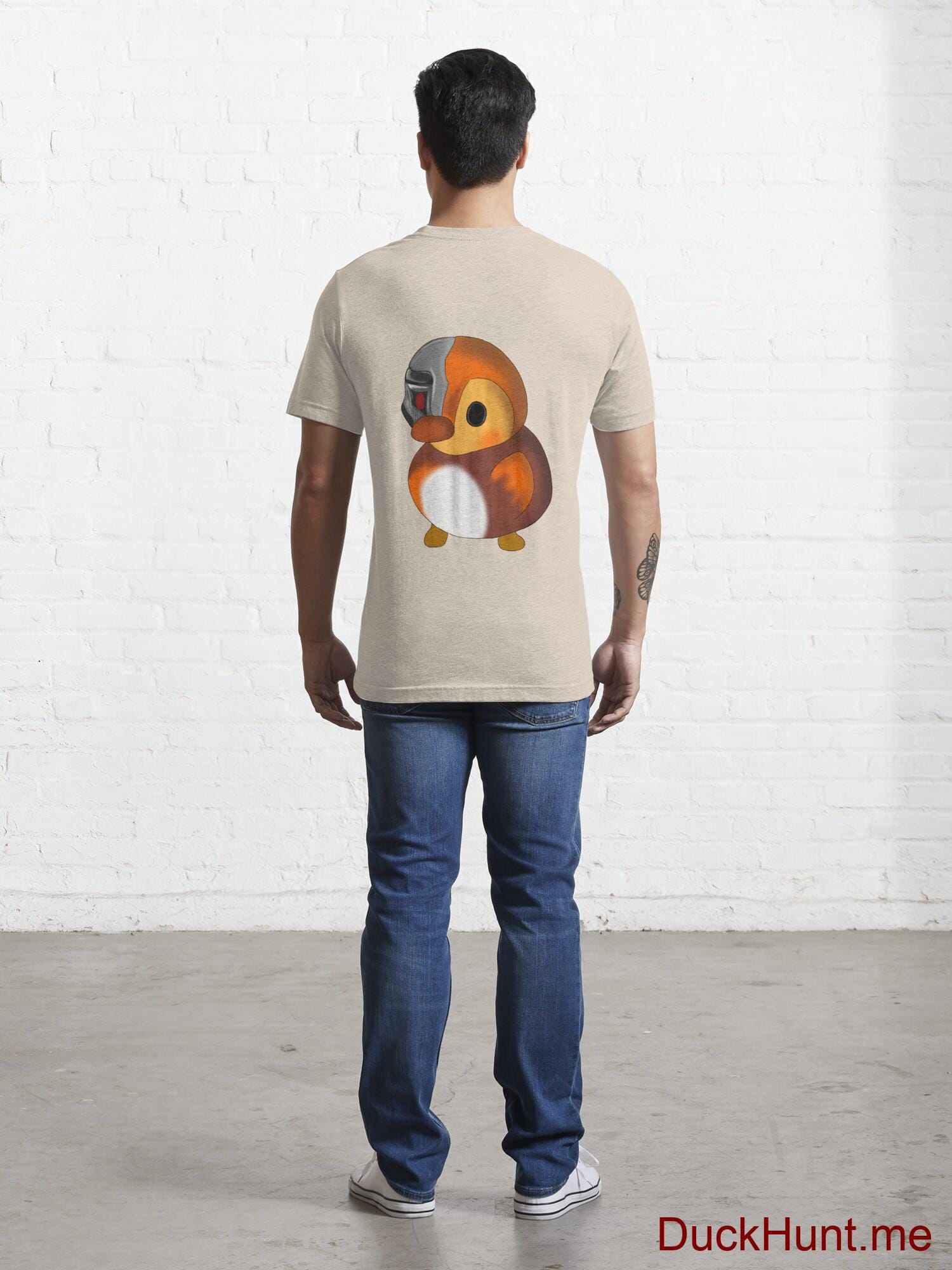 Mechanical Duck Creme Essential T-Shirt (Back printed) alternative image 3