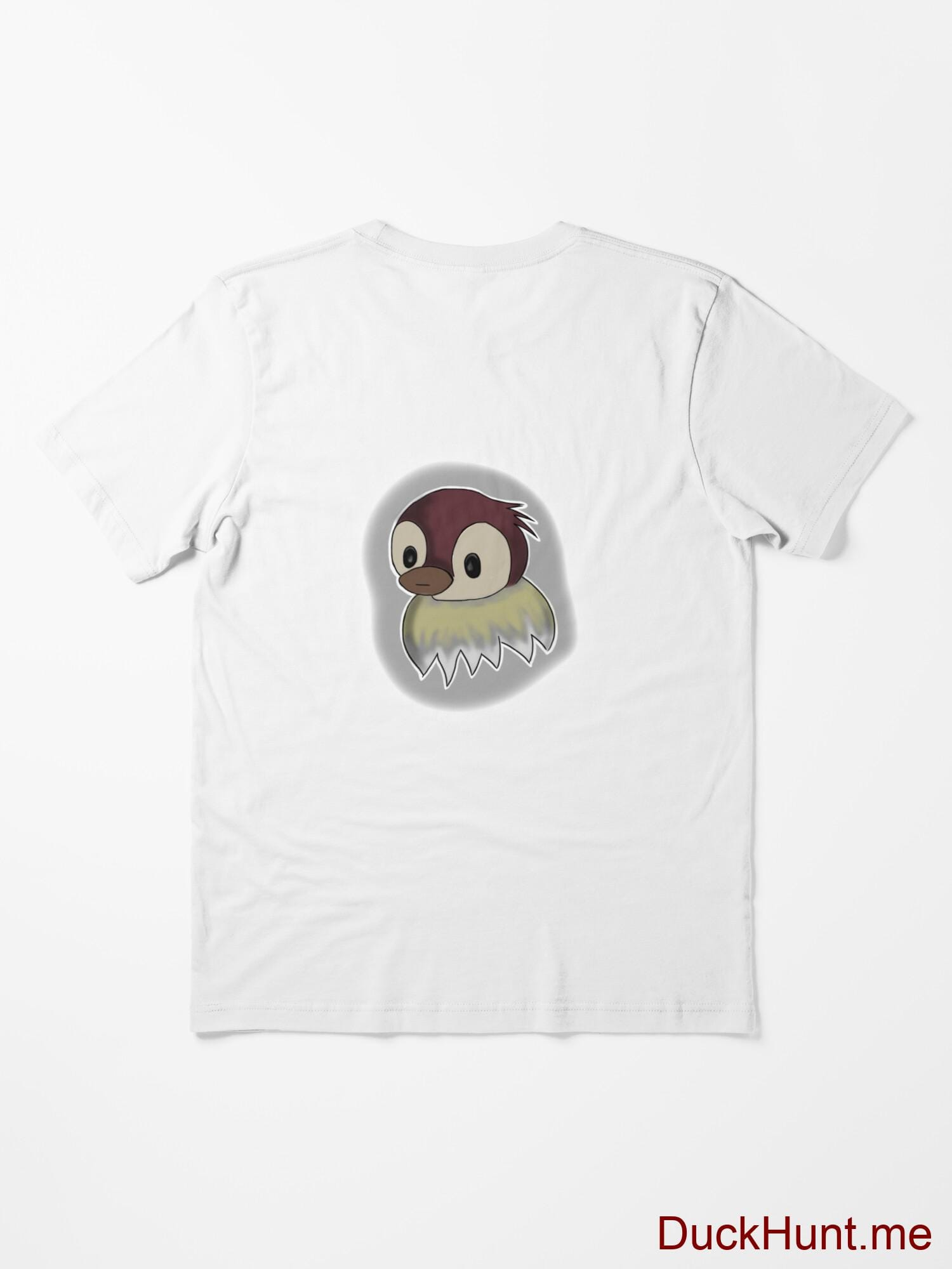 Ghost Duck (foggy) White Essential T-Shirt (Back printed) alternative image 1