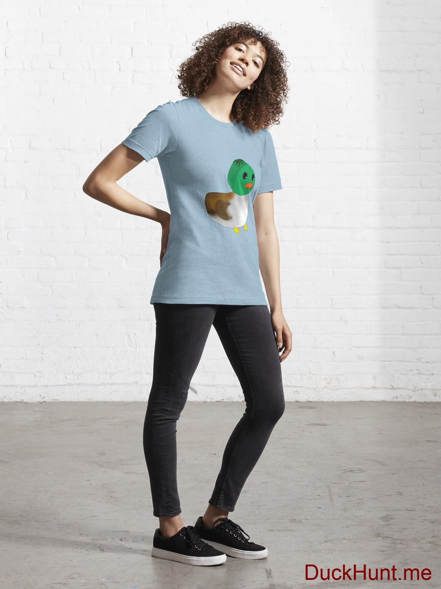 Normal Duck Light Blue Essential T-Shirt (Front printed) alternative image 3