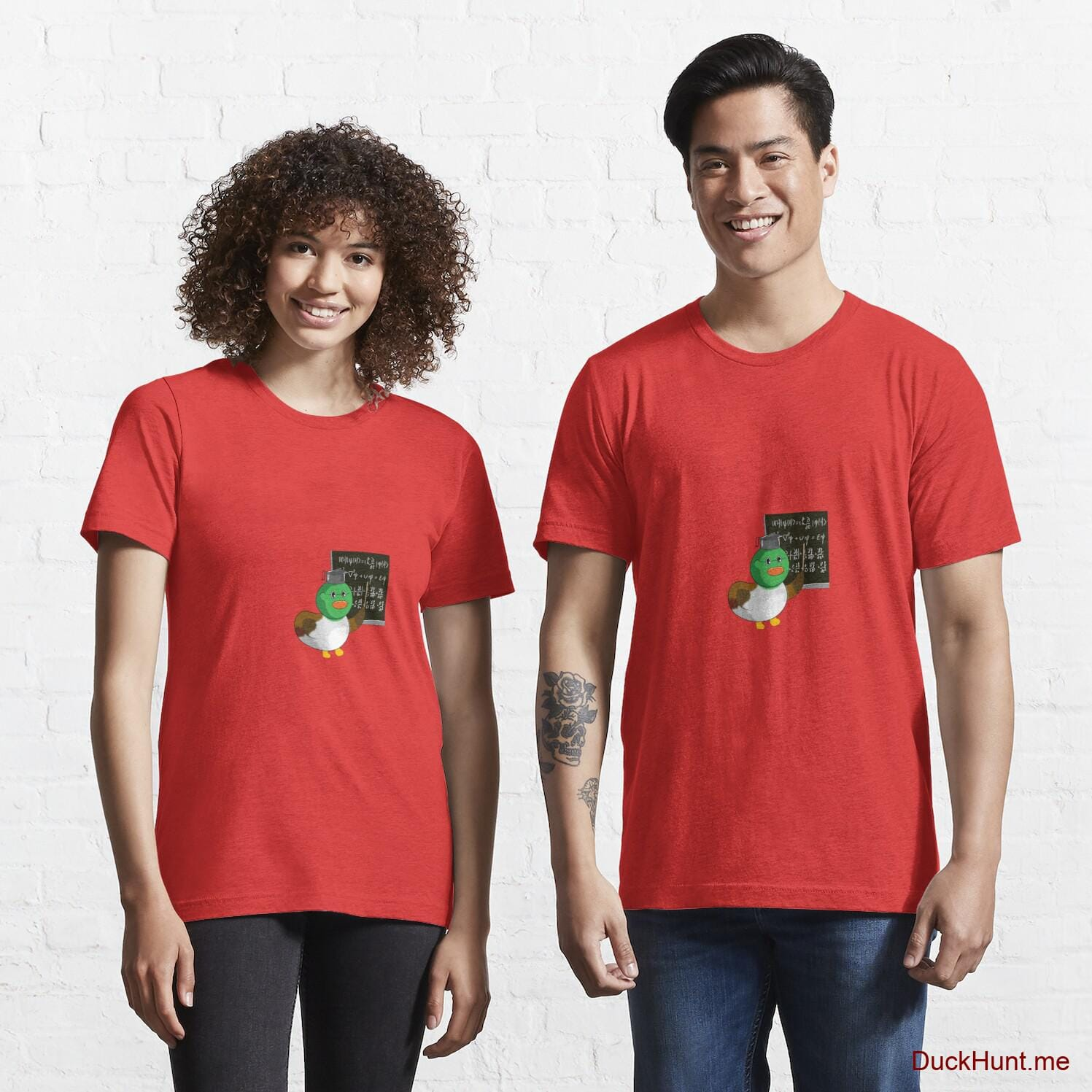 Prof Duck Red Essential T-Shirt (Front printed)