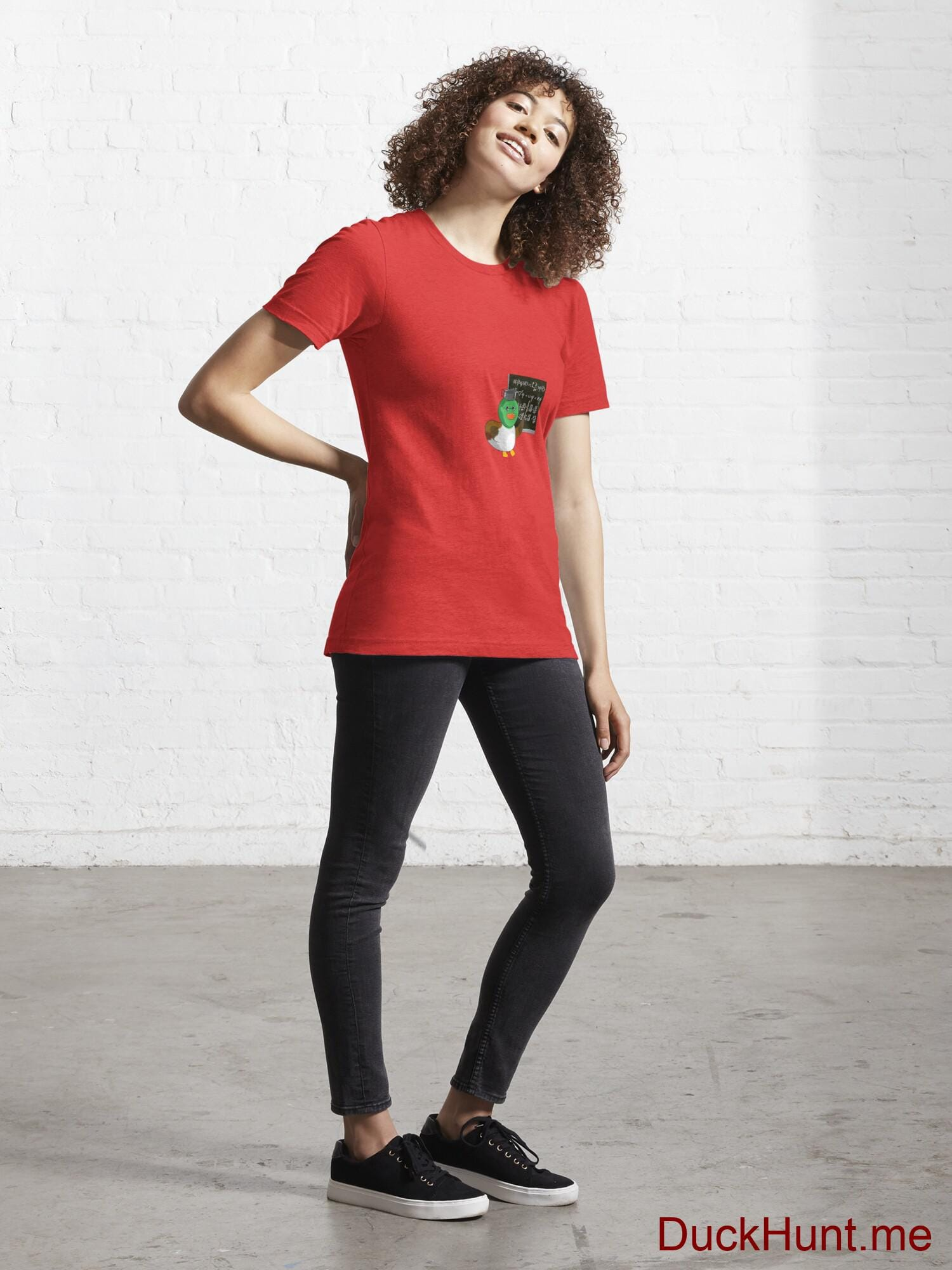 Prof Duck Red Essential T-Shirt (Front printed) alternative image 3