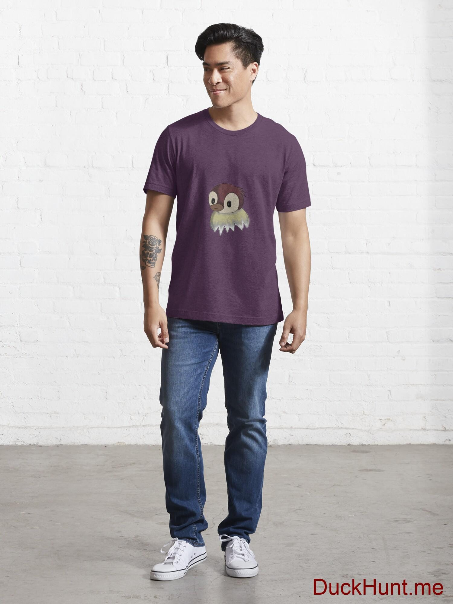 Ghost Duck (fogless) Eggplant Essential T-Shirt (Front printed) alternative image 4