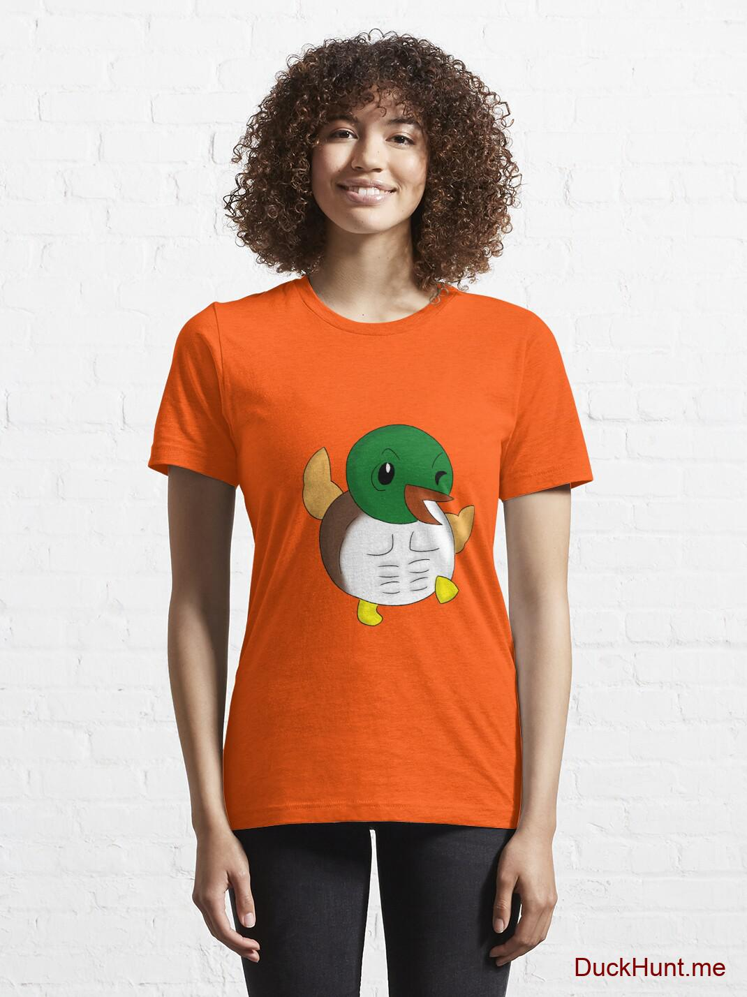 Super duck Orange Essential T-Shirt (Front printed) alternative image 5