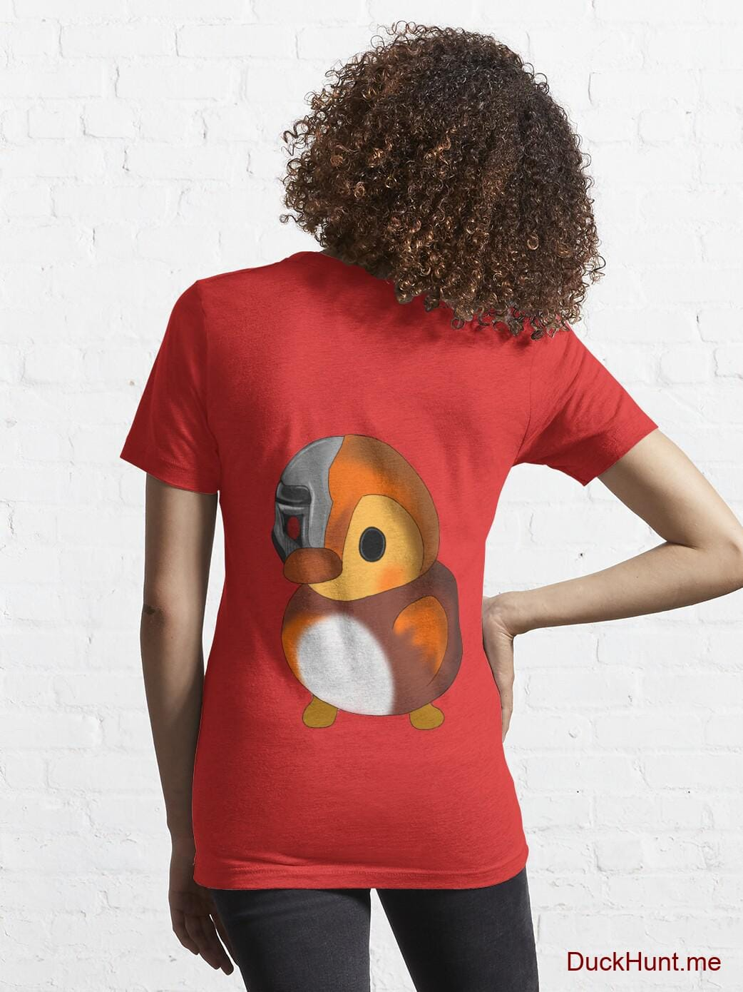Mechanical Duck Red Essential T-Shirt (Back printed) alternative image 4