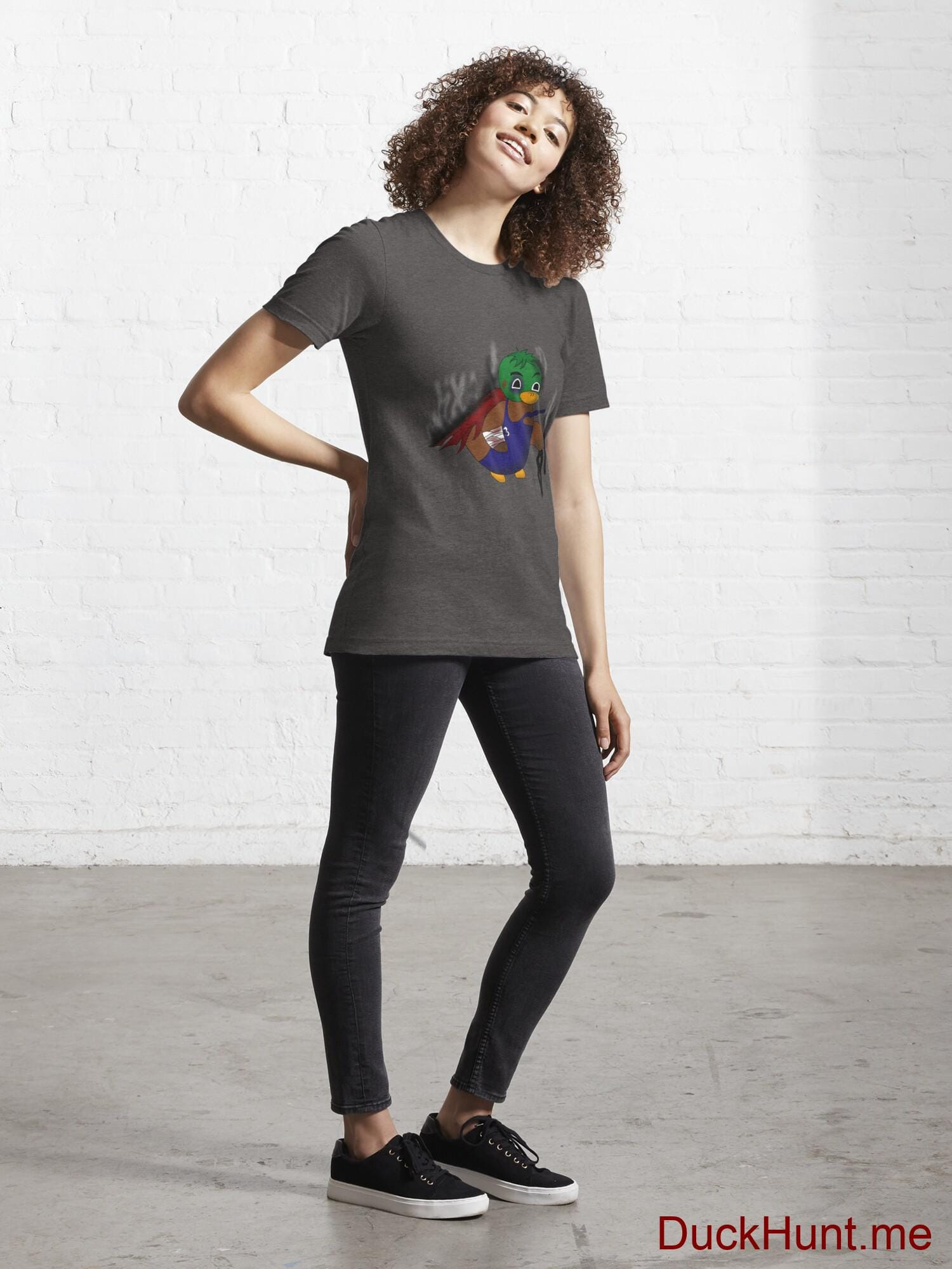 Dead Boss Duck (smoky) Charcoal Heather Essential T-Shirt (Front printed) alternative image 3