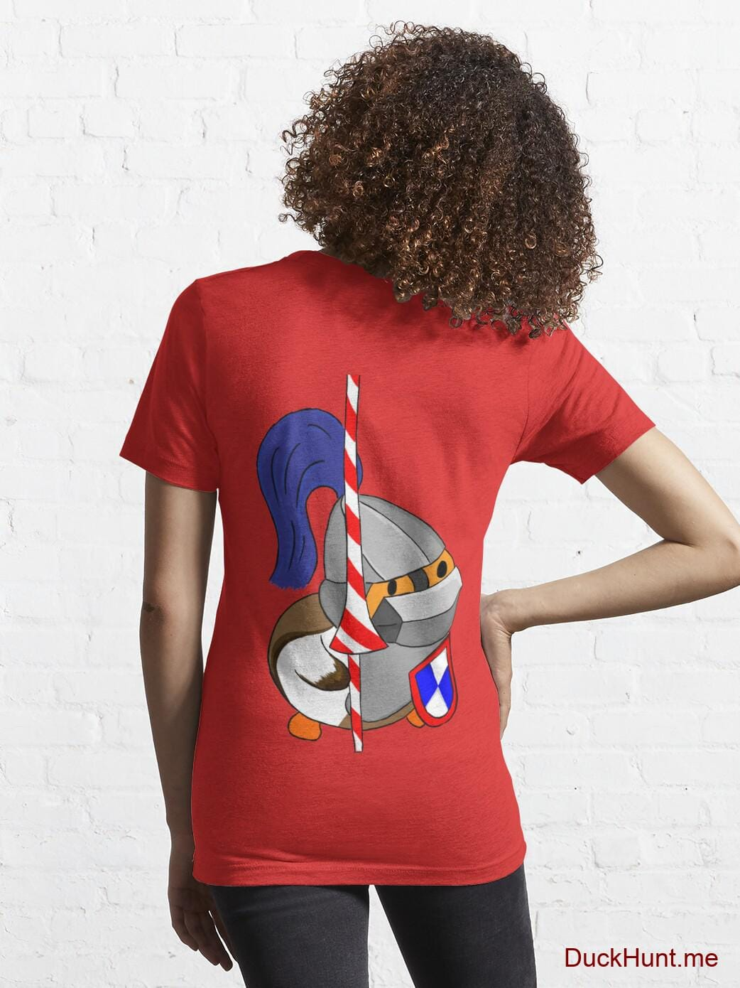 Armored Duck Red Essential T-Shirt (Back printed) alternative image 4