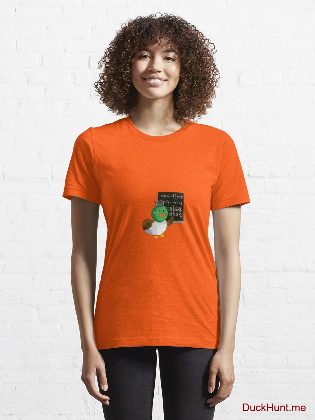 Prof Duck Orange Essential T-Shirt (Front printed) alternative image 5
