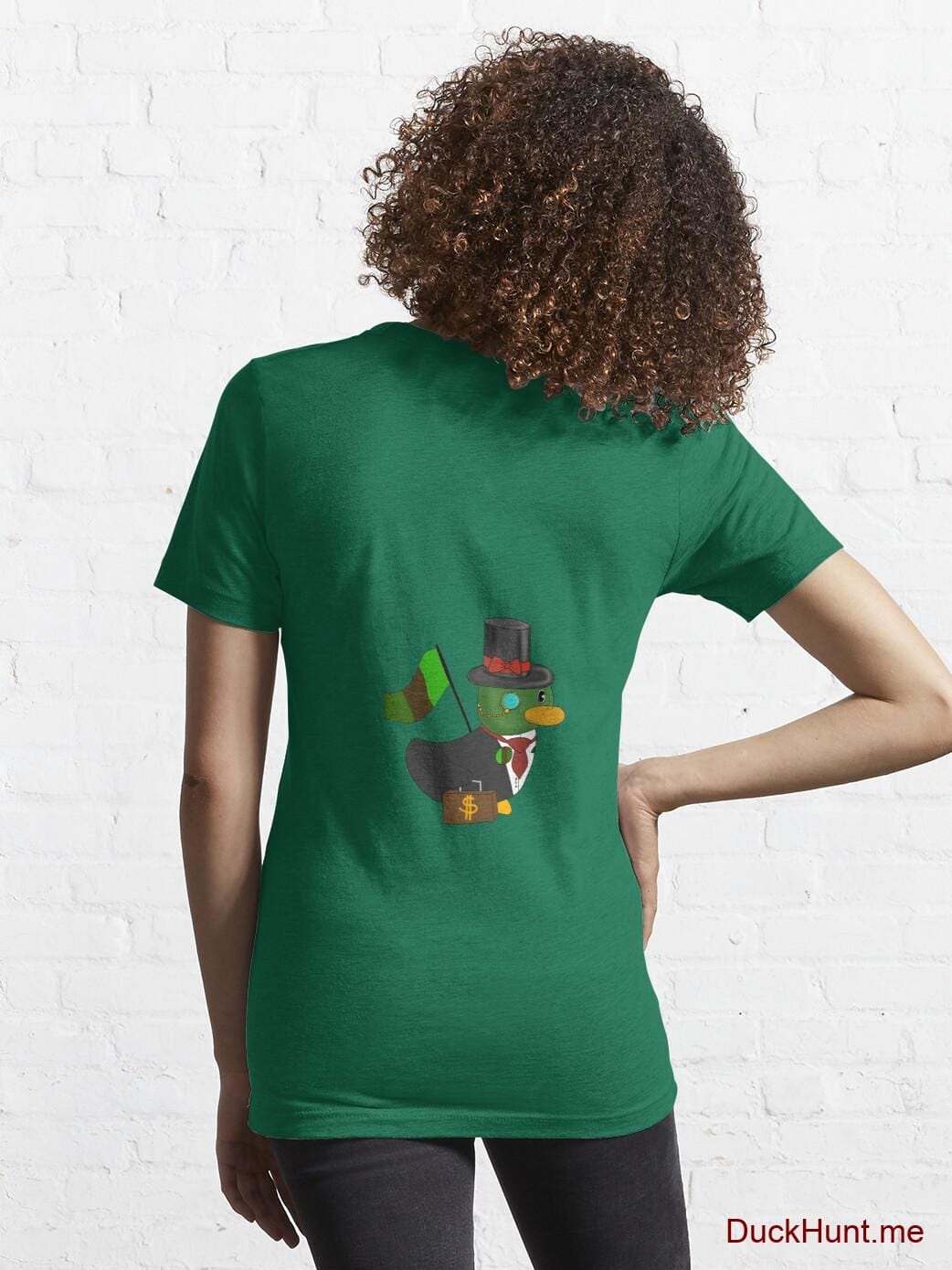Golden Duck Green Essential T-Shirt (Back printed) alternative image 4