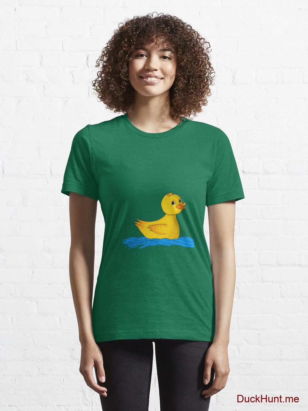 Plastic Duck Green Essential T-Shirt (Front printed) alternative image 5