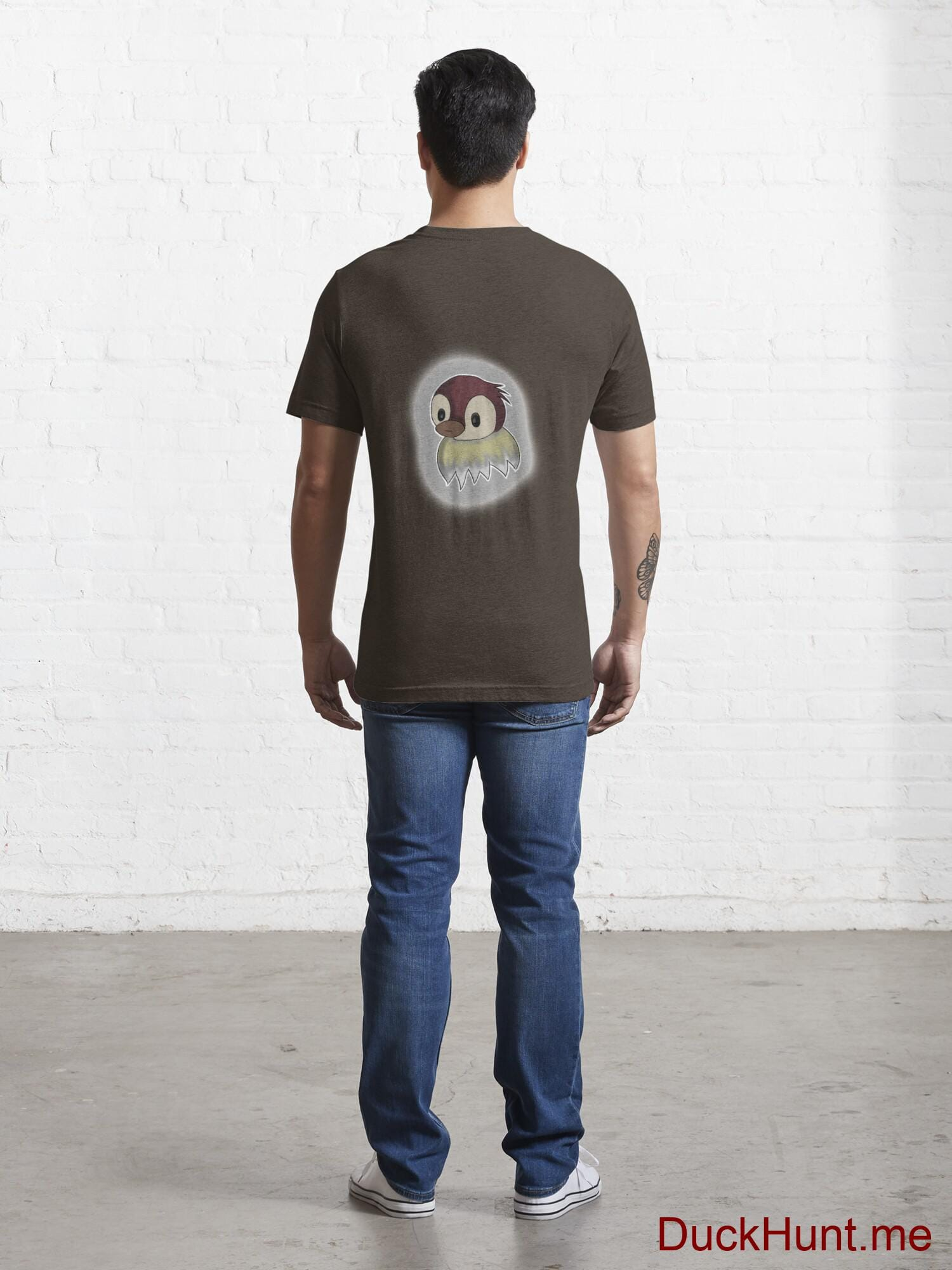 Ghost Duck (foggy) Brown Essential T-Shirt (Back printed) alternative image 3