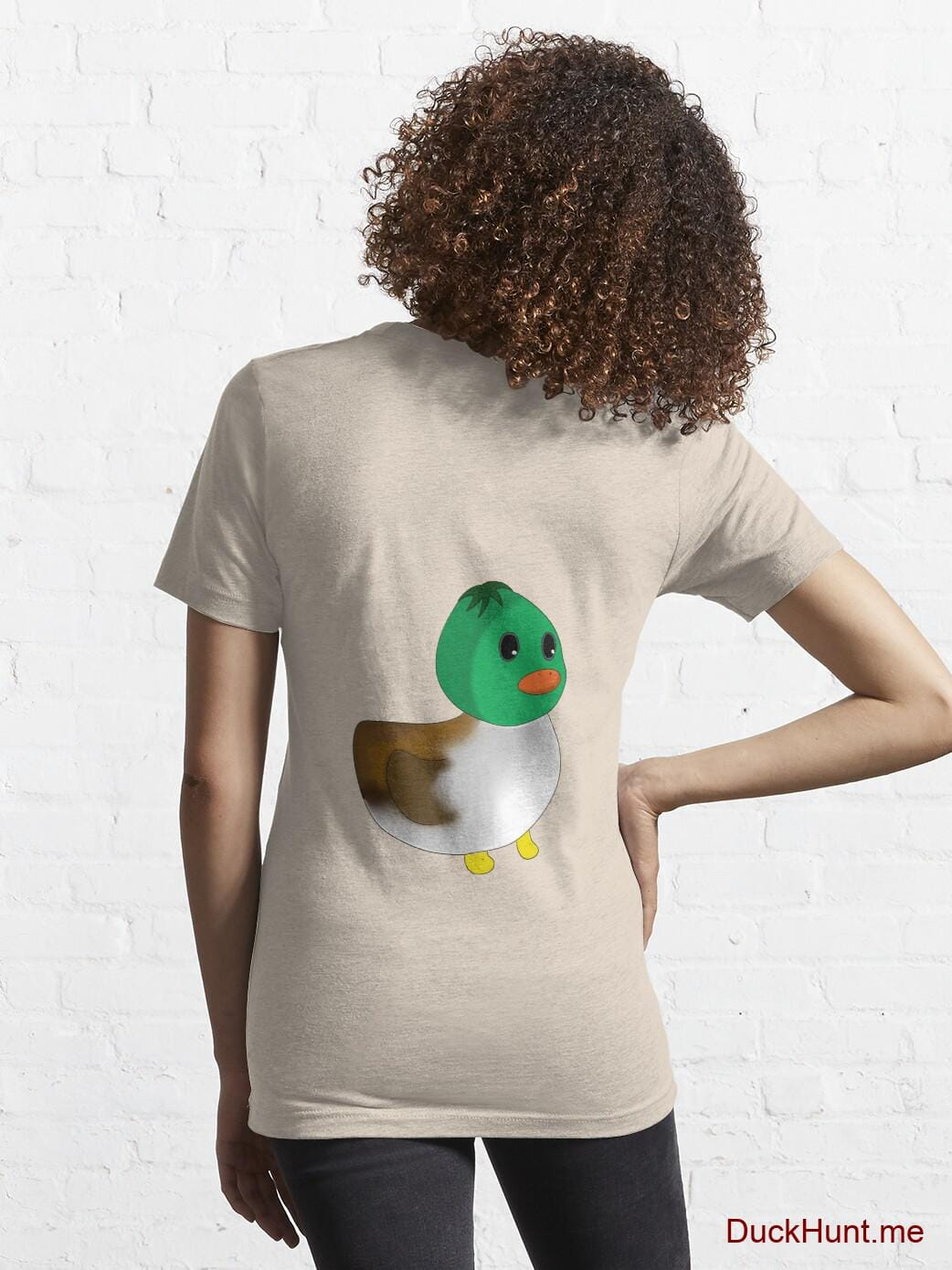 Normal Duck Creme Essential T-Shirt (Back printed) alternative image 4