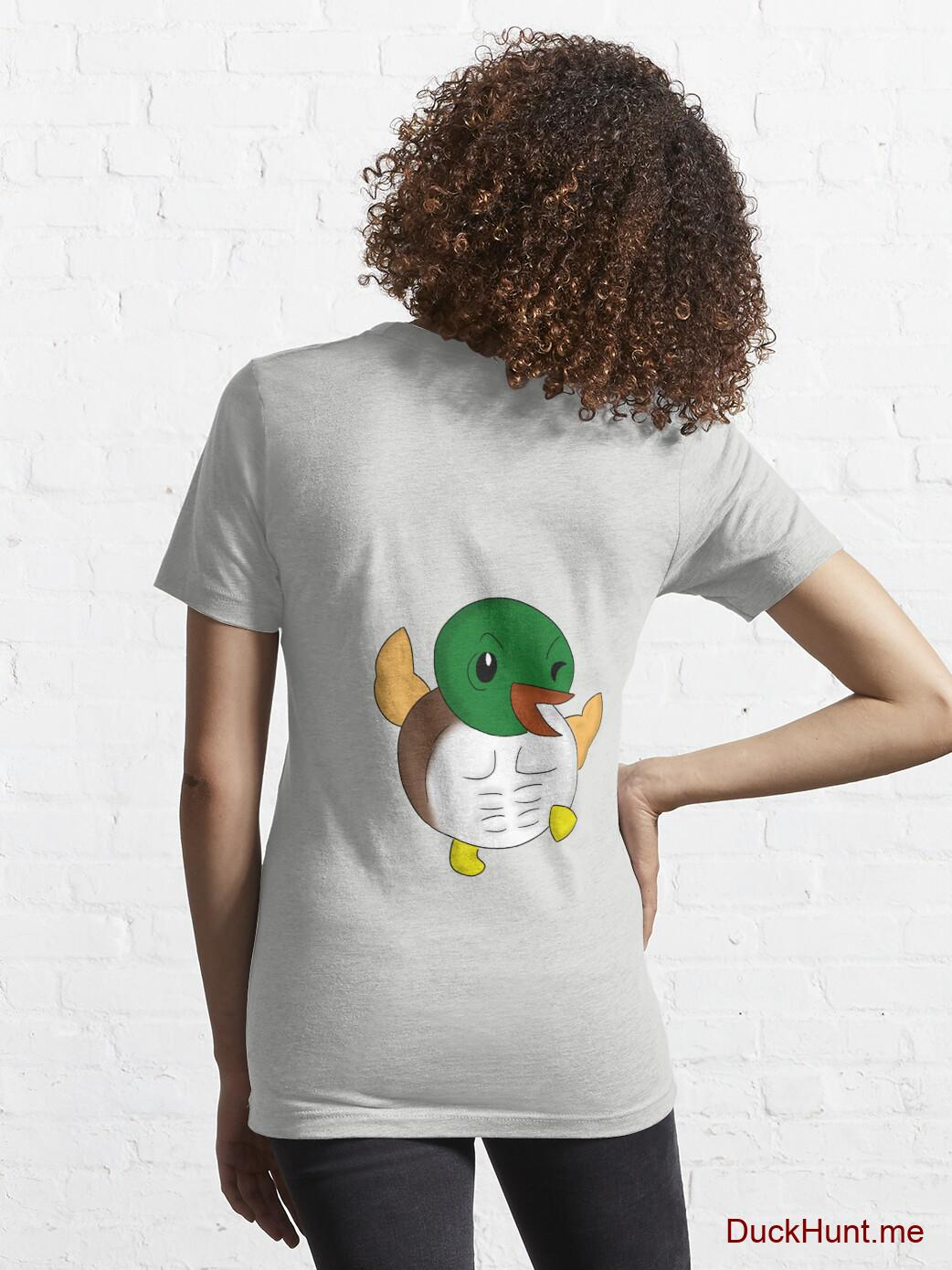 Super duck Light Grey Essential T-Shirt (Back printed) alternative image 4
