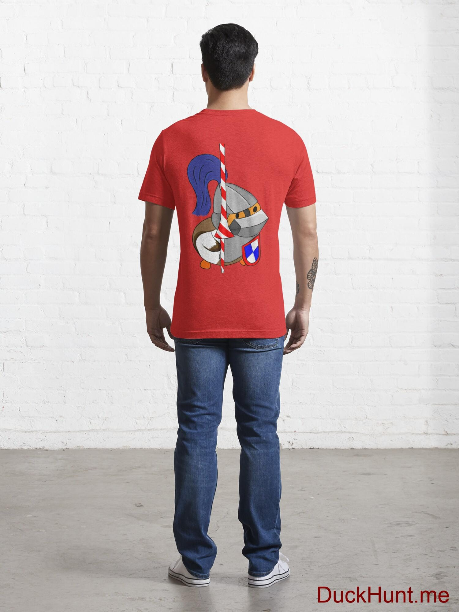 Armored Duck Red Essential T-Shirt (Back printed) alternative image 3