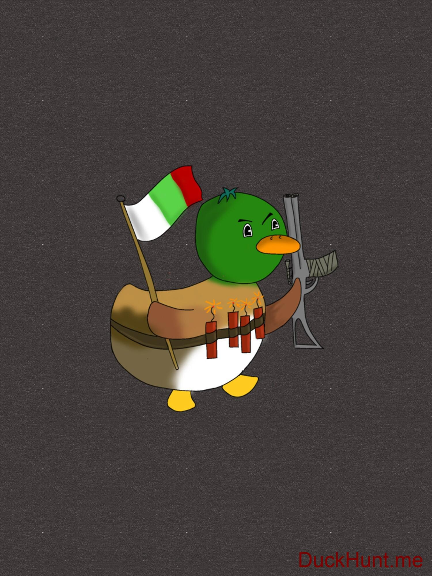 Kamikaze Duck Charcoal Heather Essential T-Shirt (Front printed) alternative image 1