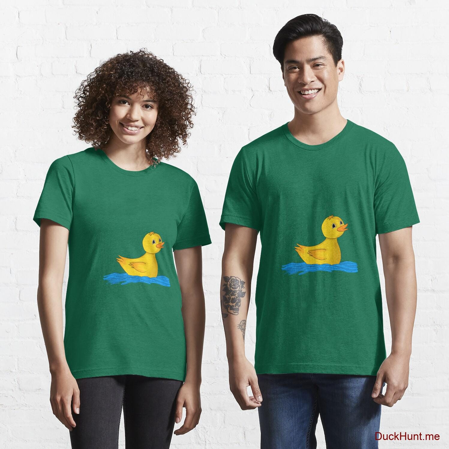Plastic Duck Green Essential T-Shirt (Front printed)