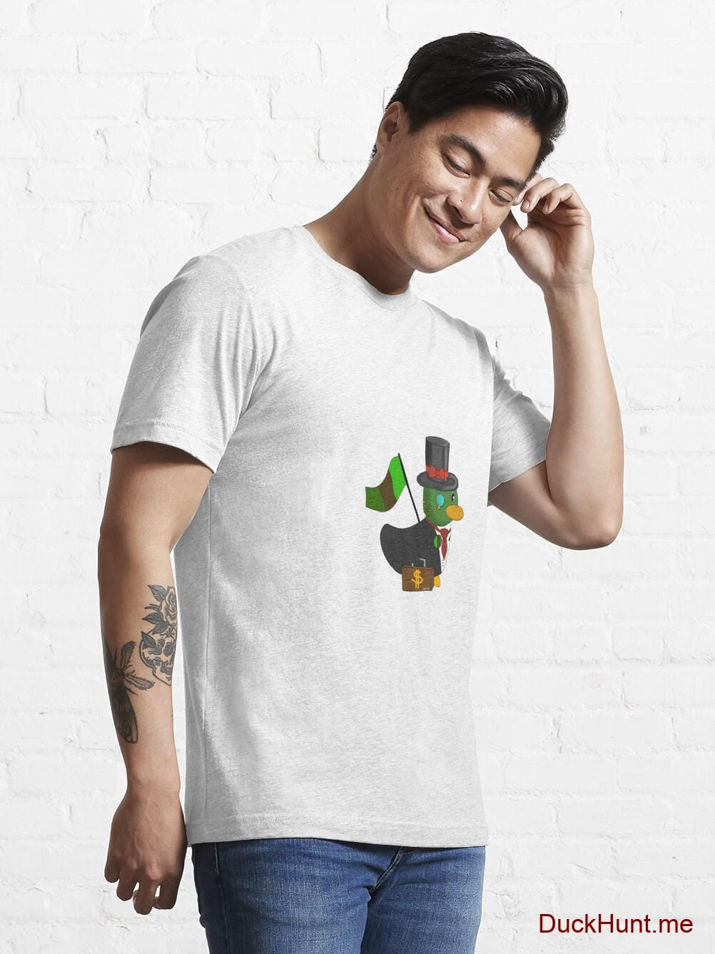 Golden Duck White Essential T-Shirt (Front printed) alternative image 6