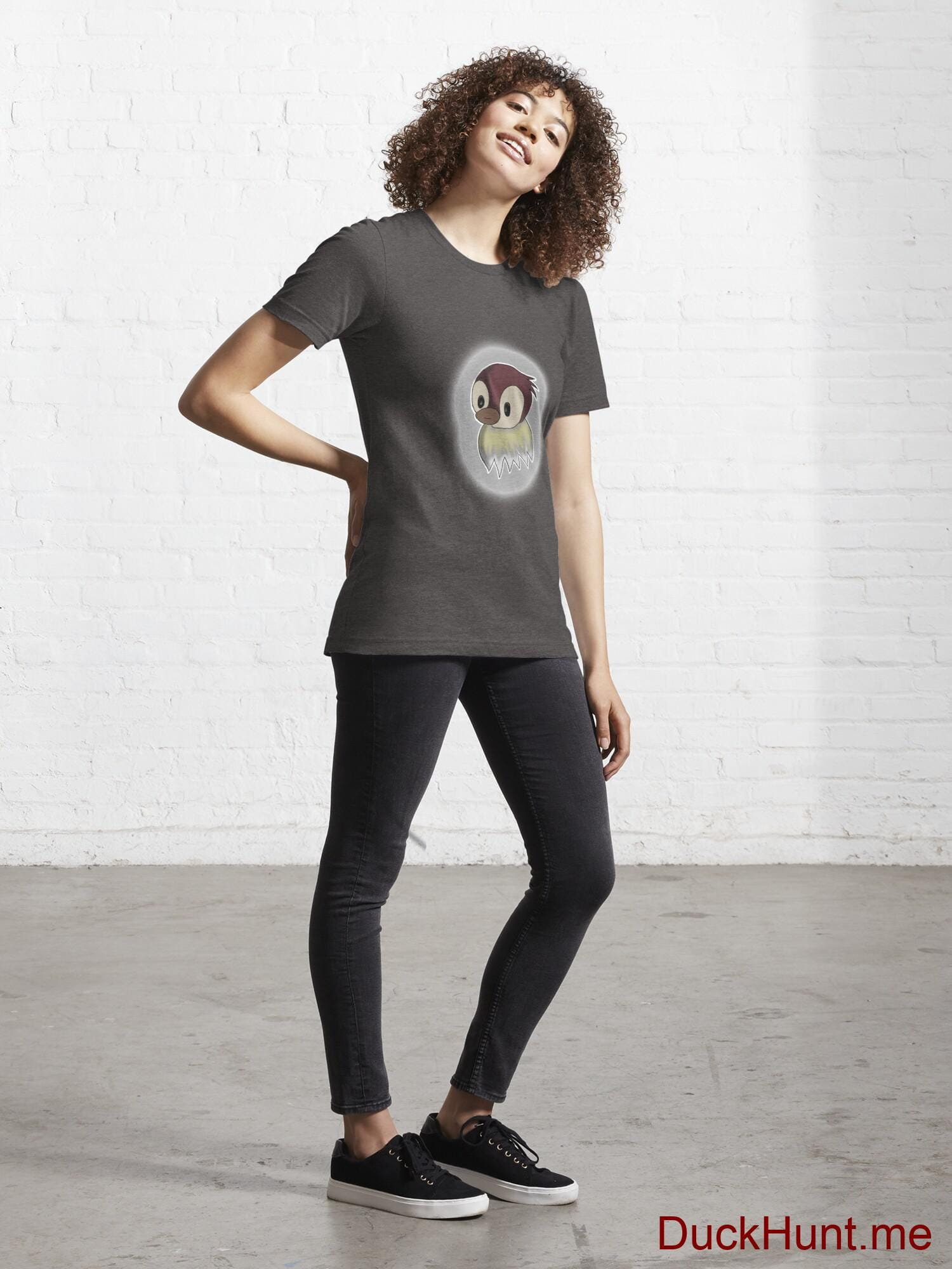 Ghost Duck (foggy) Charcoal Heather Essential T-Shirt (Front printed) alternative image 3