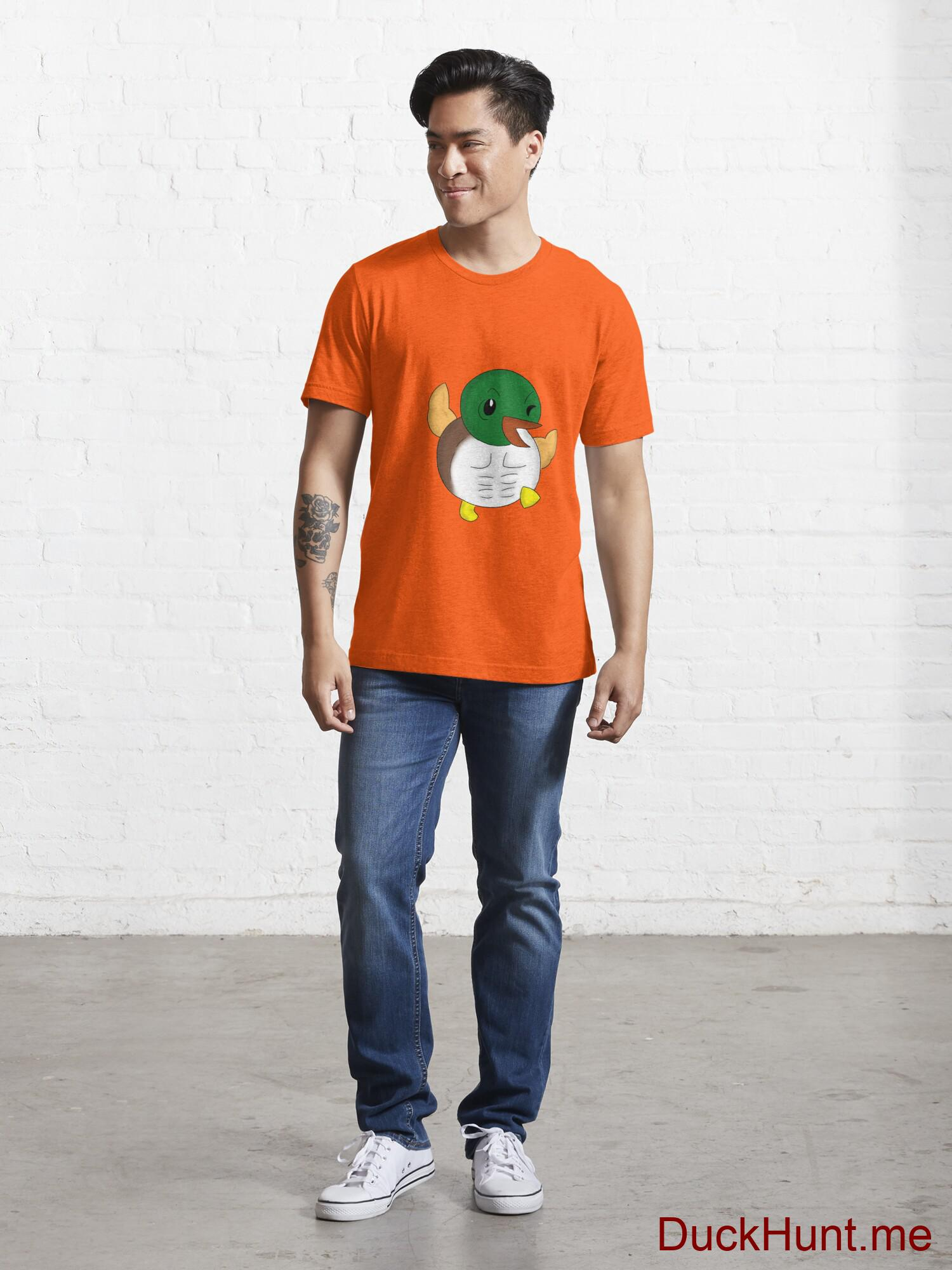 Super duck Orange Essential T-Shirt (Front printed) alternative image 4