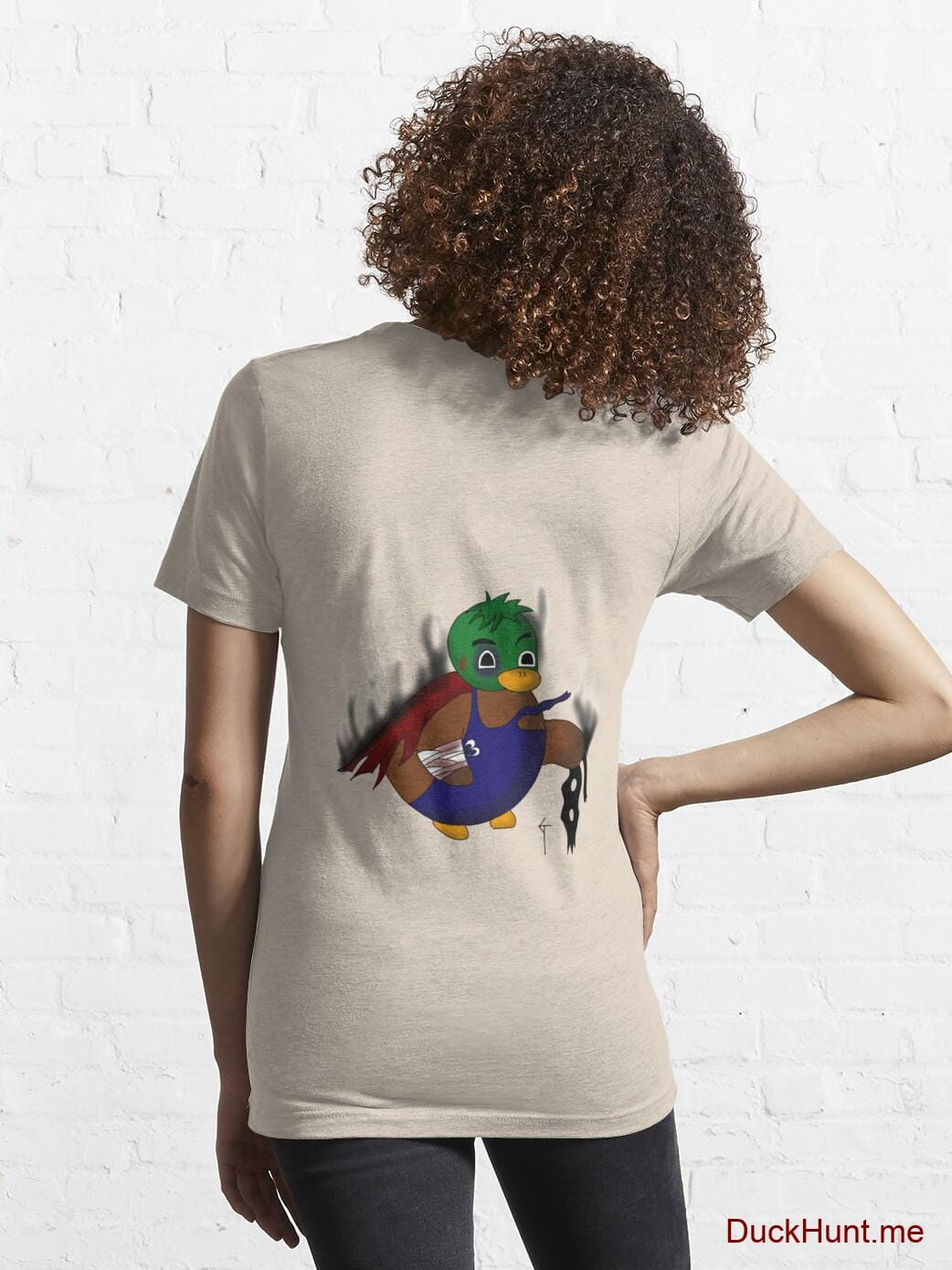 Dead Boss Duck (smoky) Creme Essential T-Shirt (Back printed) alternative image 4