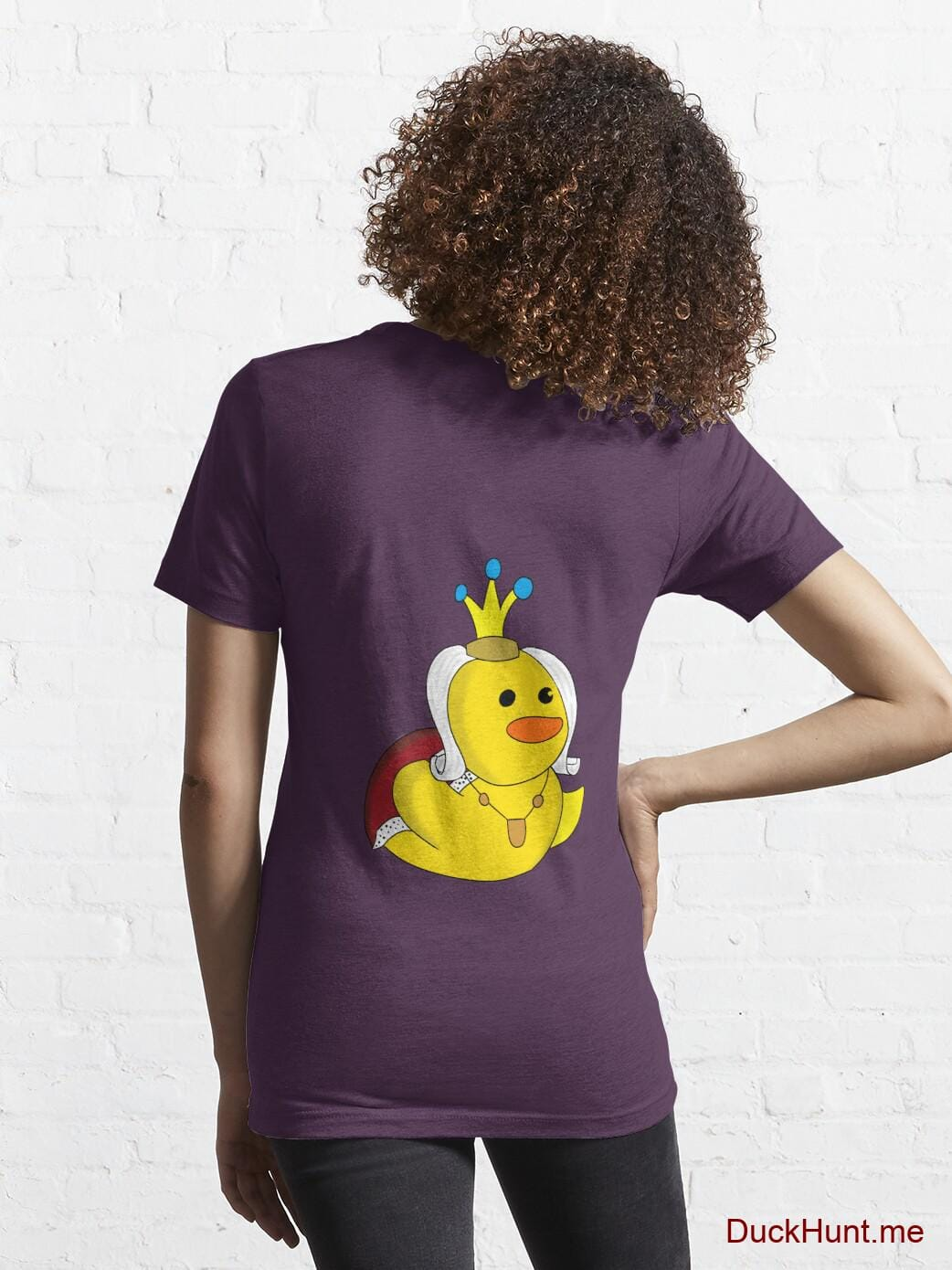 Royal Duck Eggplant Essential T-Shirt (Back printed) alternative image 4