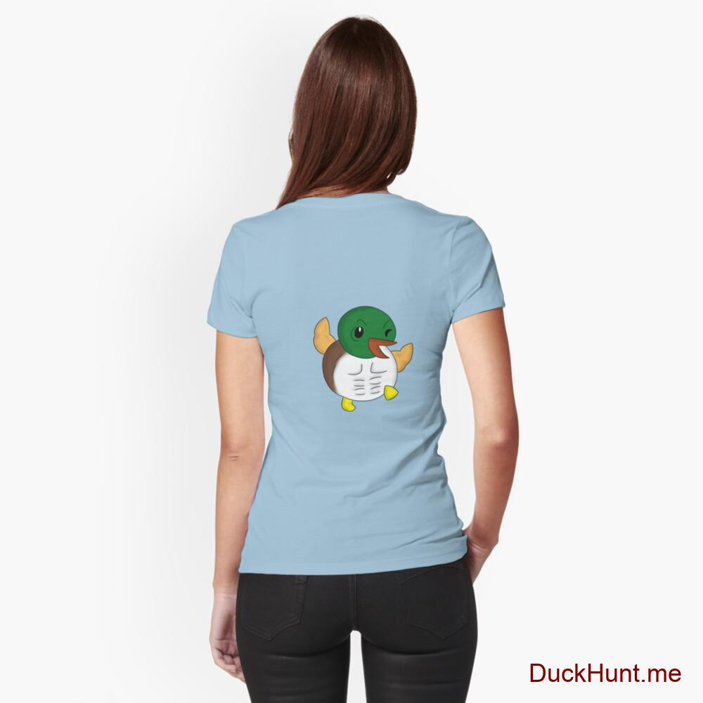 Super duck Light Blue Fitted T-Shirt (Back printed)