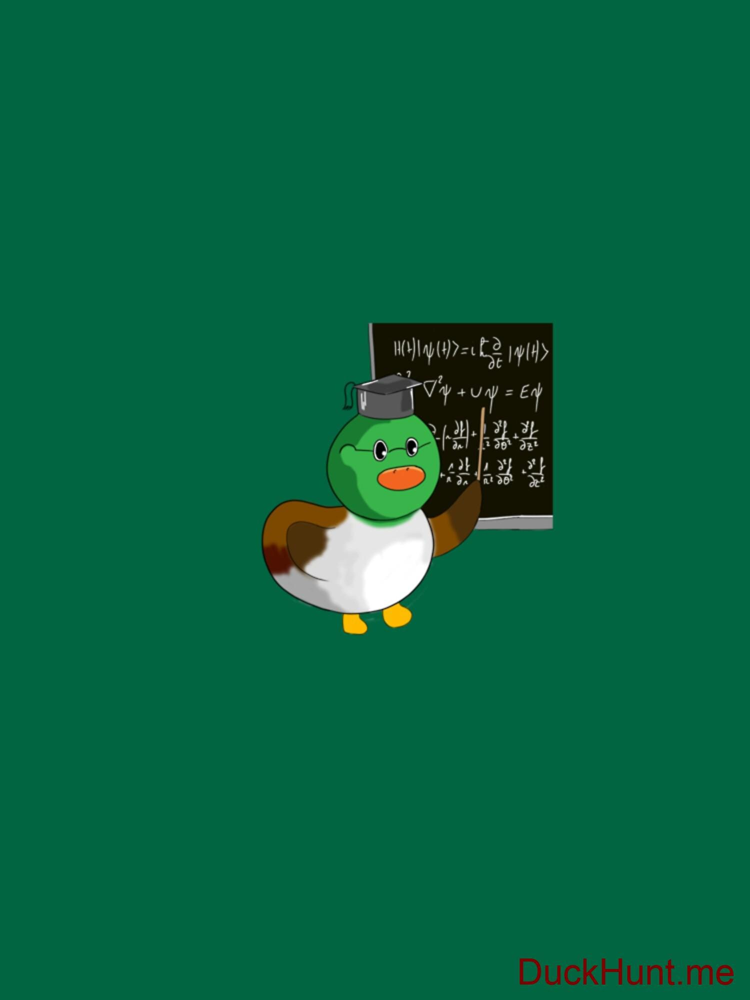Prof Duck Green Fitted T-Shirt (Front printed) alternative image 1