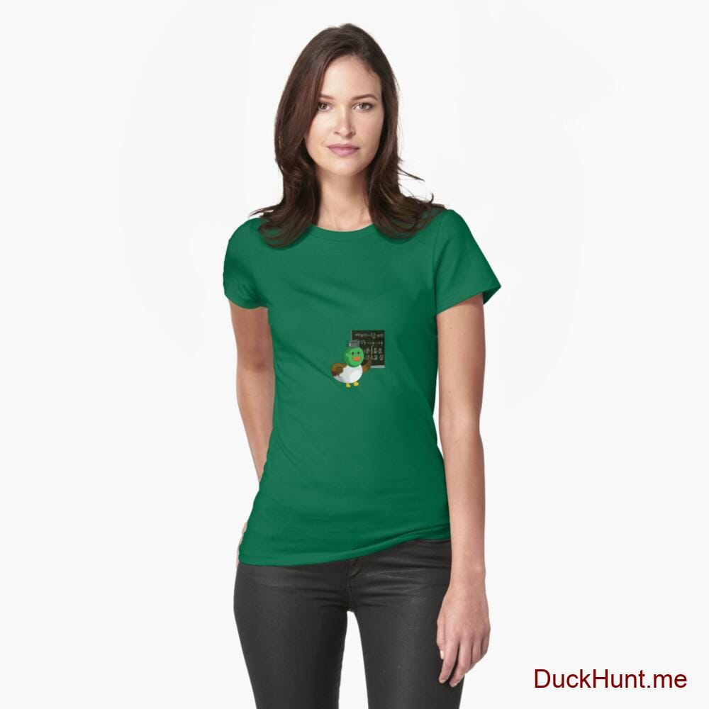 Prof Duck Green Fitted T-Shirt (Front printed)