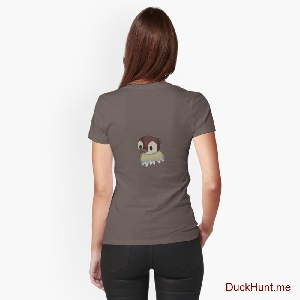 Ghost Duck (fogless) Dark Grey Fitted T-Shirt (Back printed)