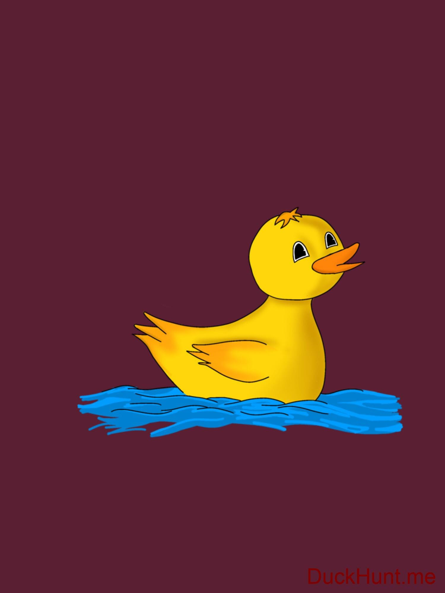 Plastic Duck Dark Red Fitted T-Shirt (Front printed) alternative image 1
