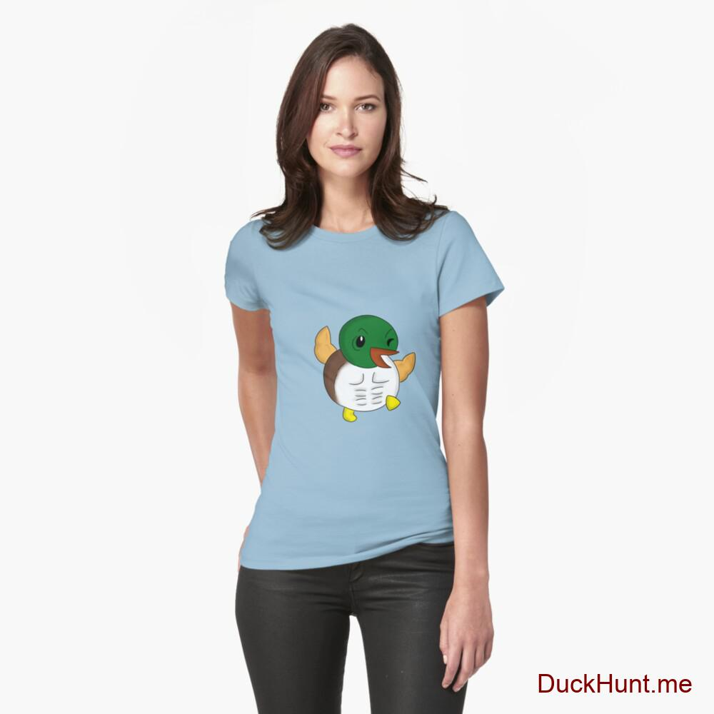 Super duck Light Blue Fitted T-Shirt (Front printed)