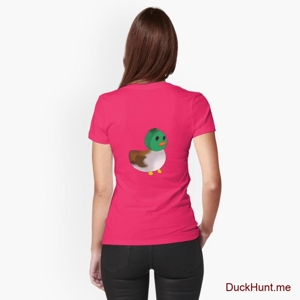 Normal Duck Berry Fitted T-Shirt (Back printed)