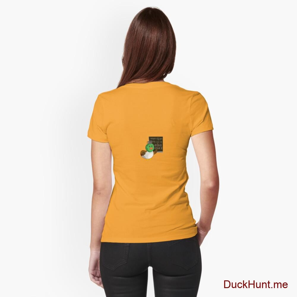 Prof Duck Gold Fitted T-Shirt (Back printed)